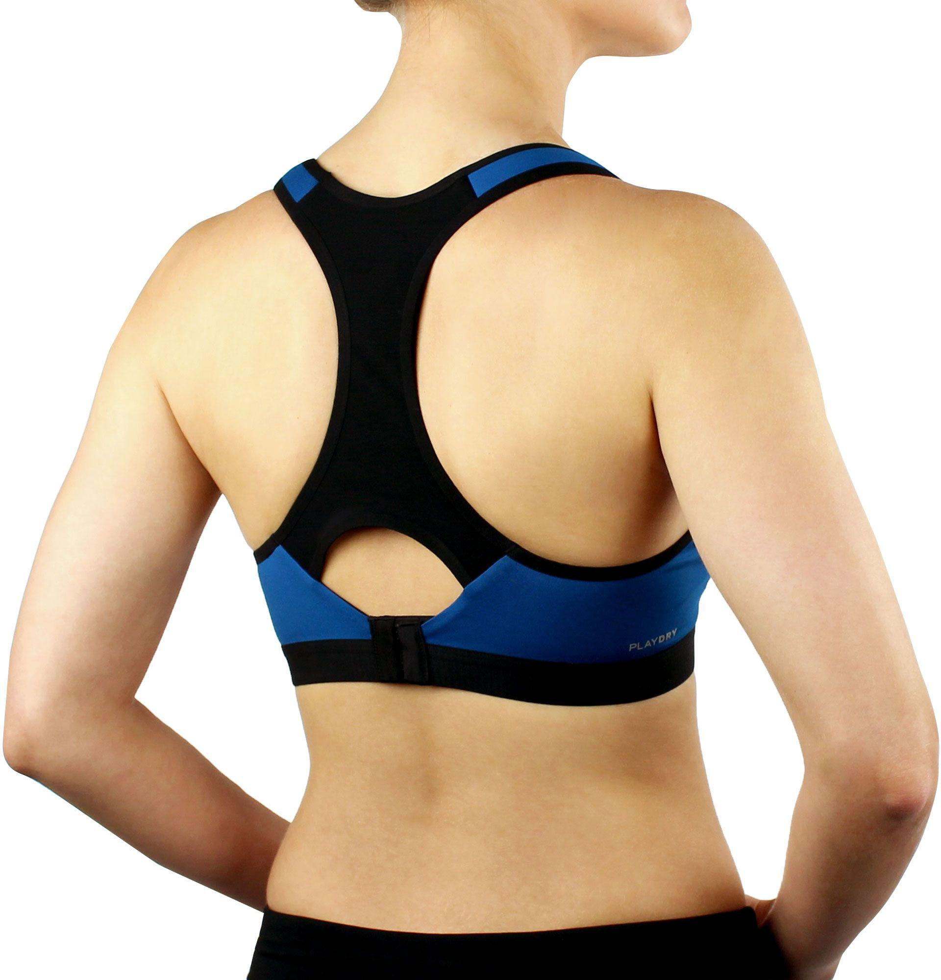695d54f2d2 Reebok Blue High-impact Molded Cup Sports Bra