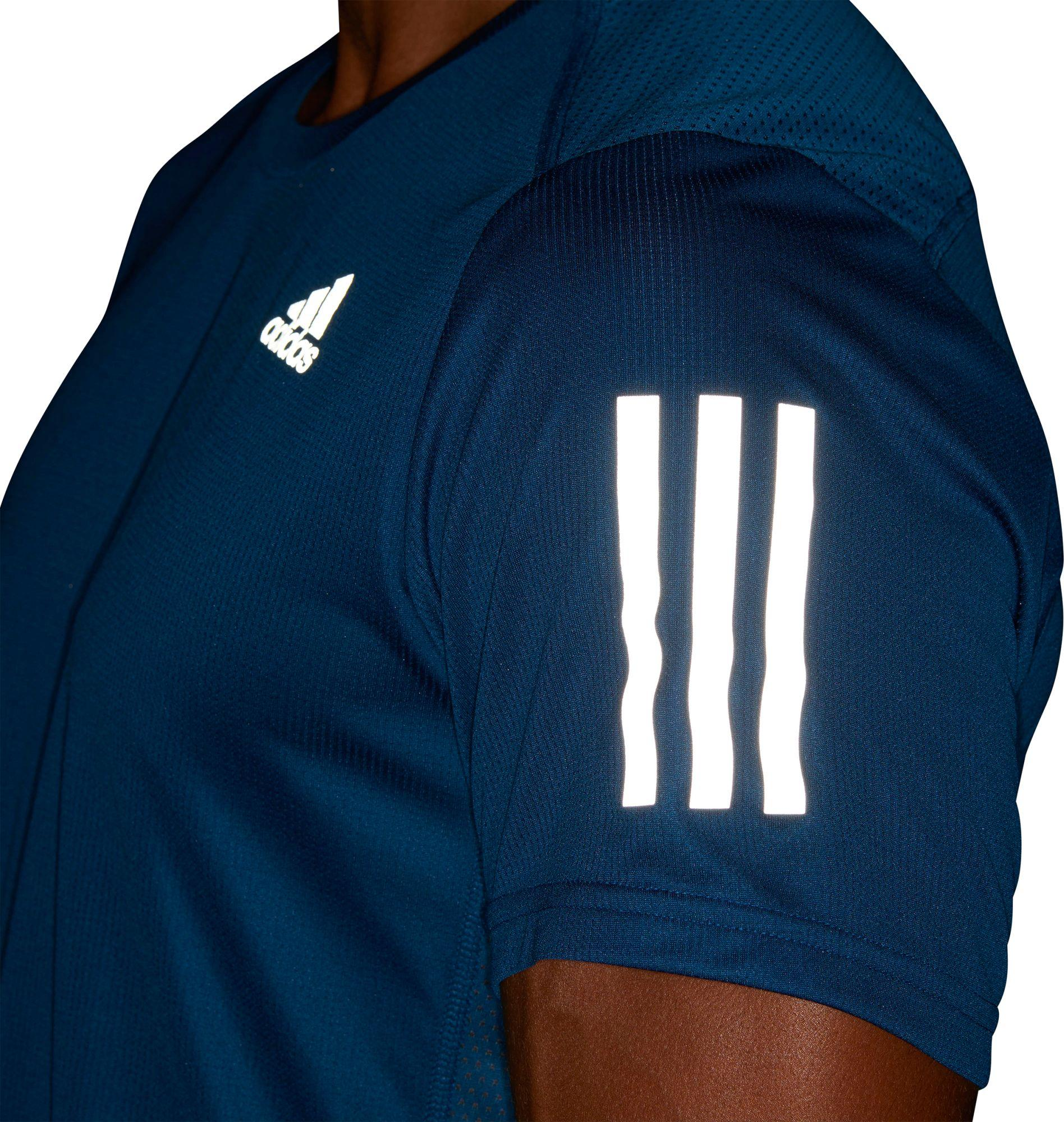36e9dc014 Lyst - adidas On The Run T-shirt in Blue for Men