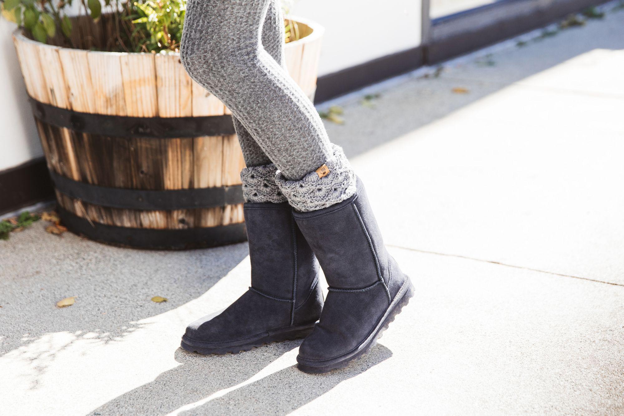 2d439b9e8 BEARPAW Elle Short Winter Boots in Gray - Lyst
