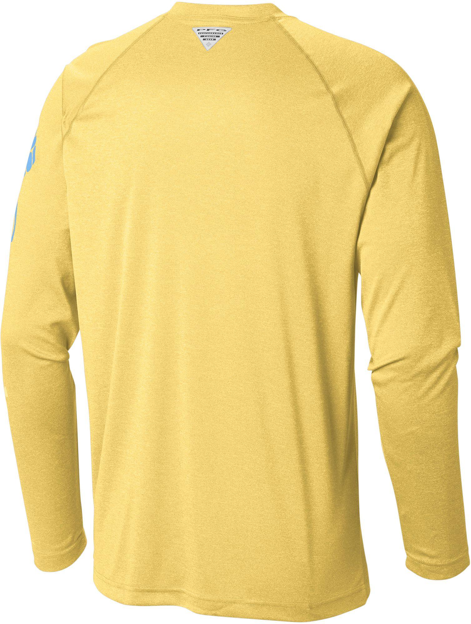 eefcdeee13c Columbia Pfg Terminal Tackle Heather Long Sleeve Shirt in Yellow for Men -  Save 14% - Lyst