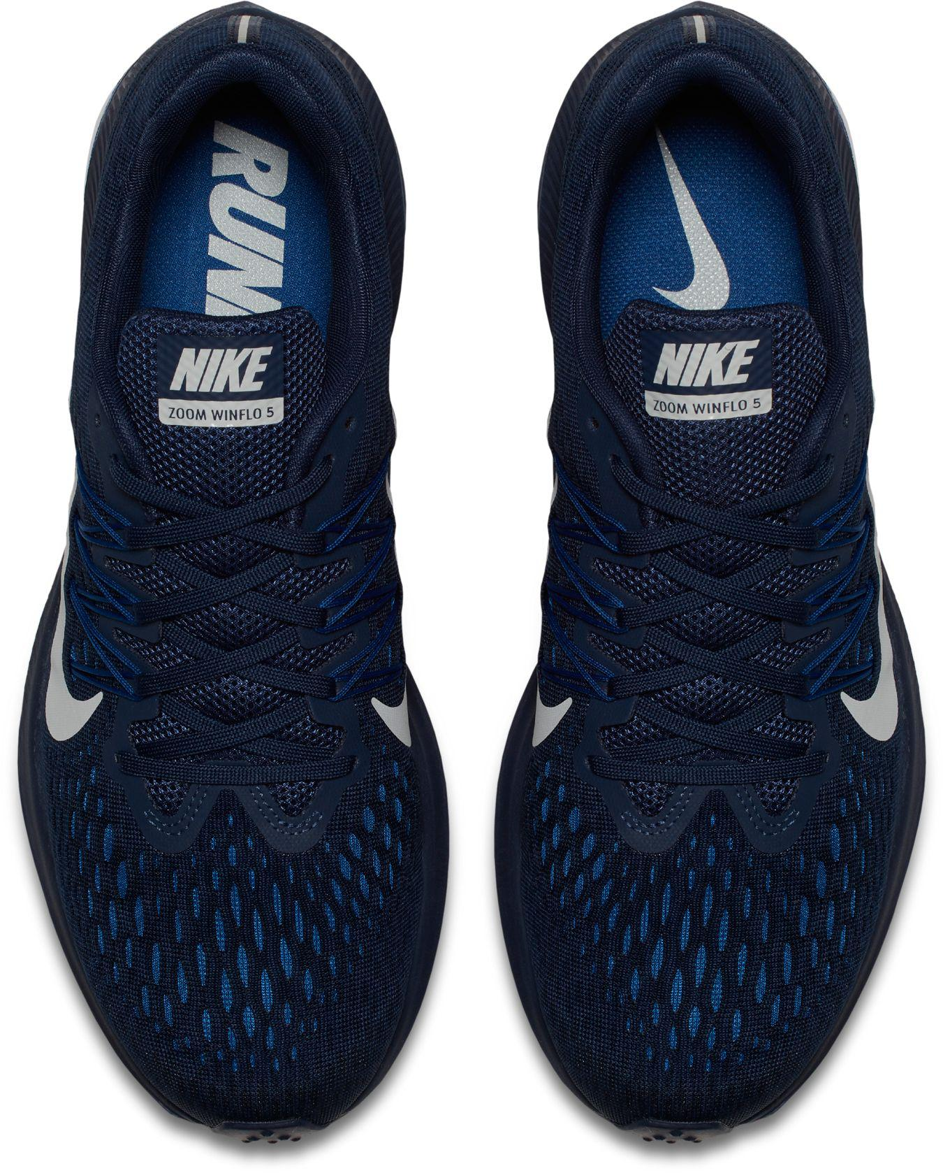 super popular c6a58 47380 Nike - Blue Air Zoom Winflo 5 Running Shoes for Men - Lyst