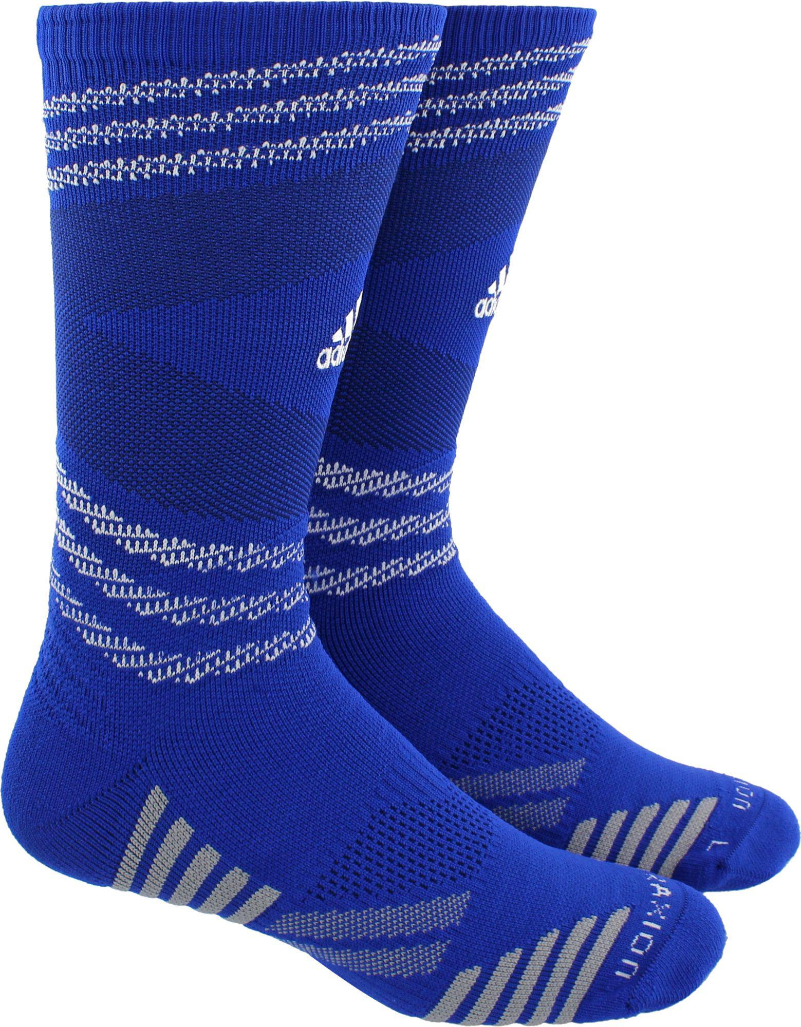 Lyst - adidas Speed Mesh Team Traxion Single Crew Socks in Blue for Men 9e5b4cf1f