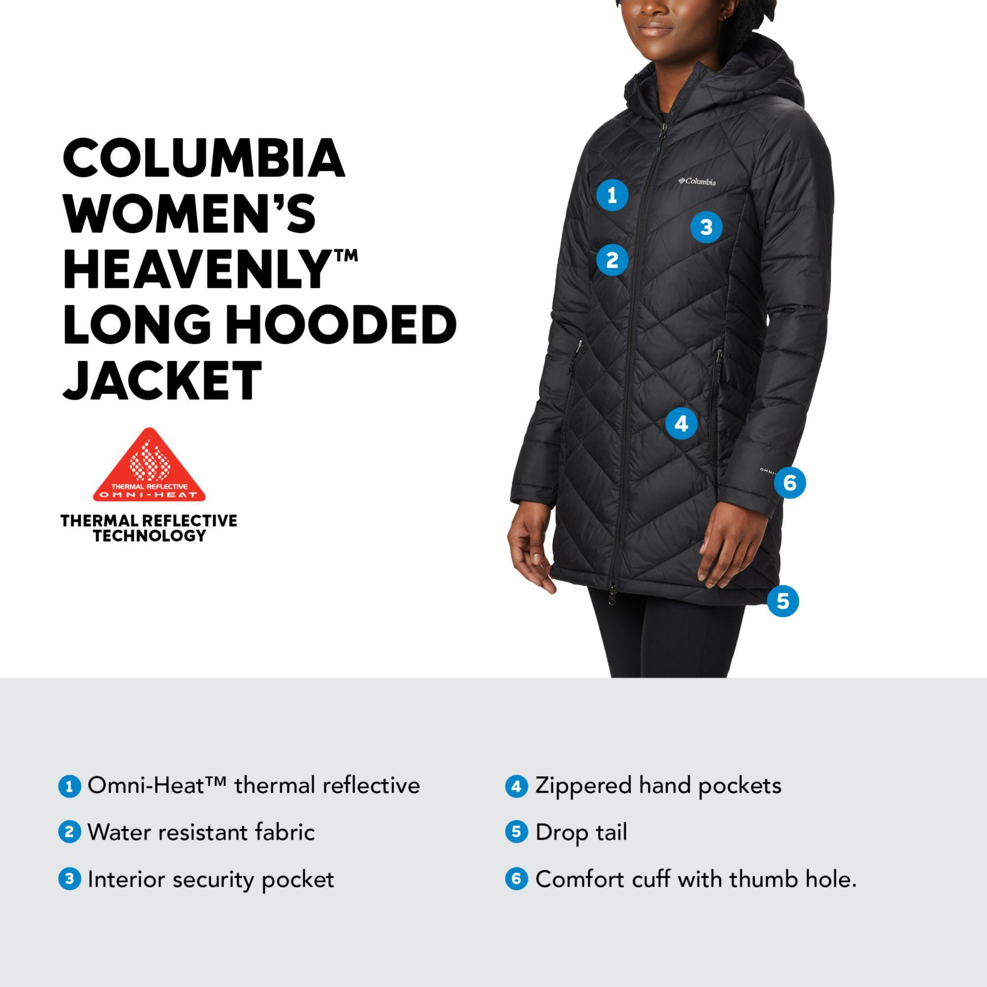 Columbia Synthetic Plus Heavenly Long Hooded Down Jacket ...