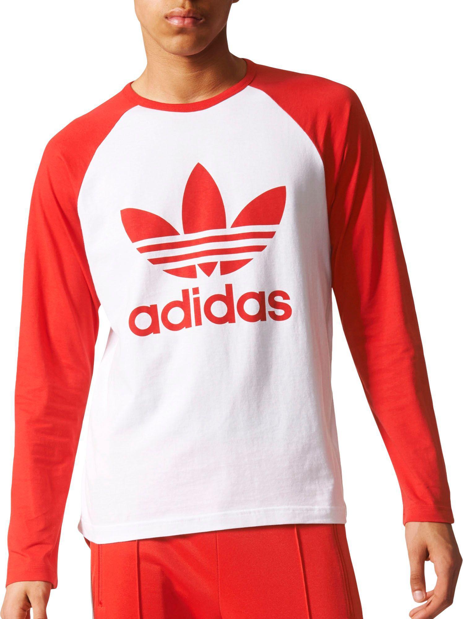 red adidas long sleeve shirt