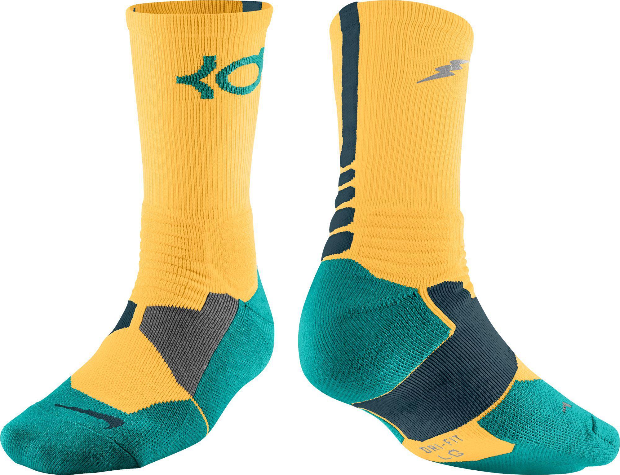 hot sale online ff0bc 8a56e Nike Orange Kd Hyper Elite Crew Basketball Socks Jpeg. S Lyst Clothing  Nicole Miller Sleeveless Ruched Fl