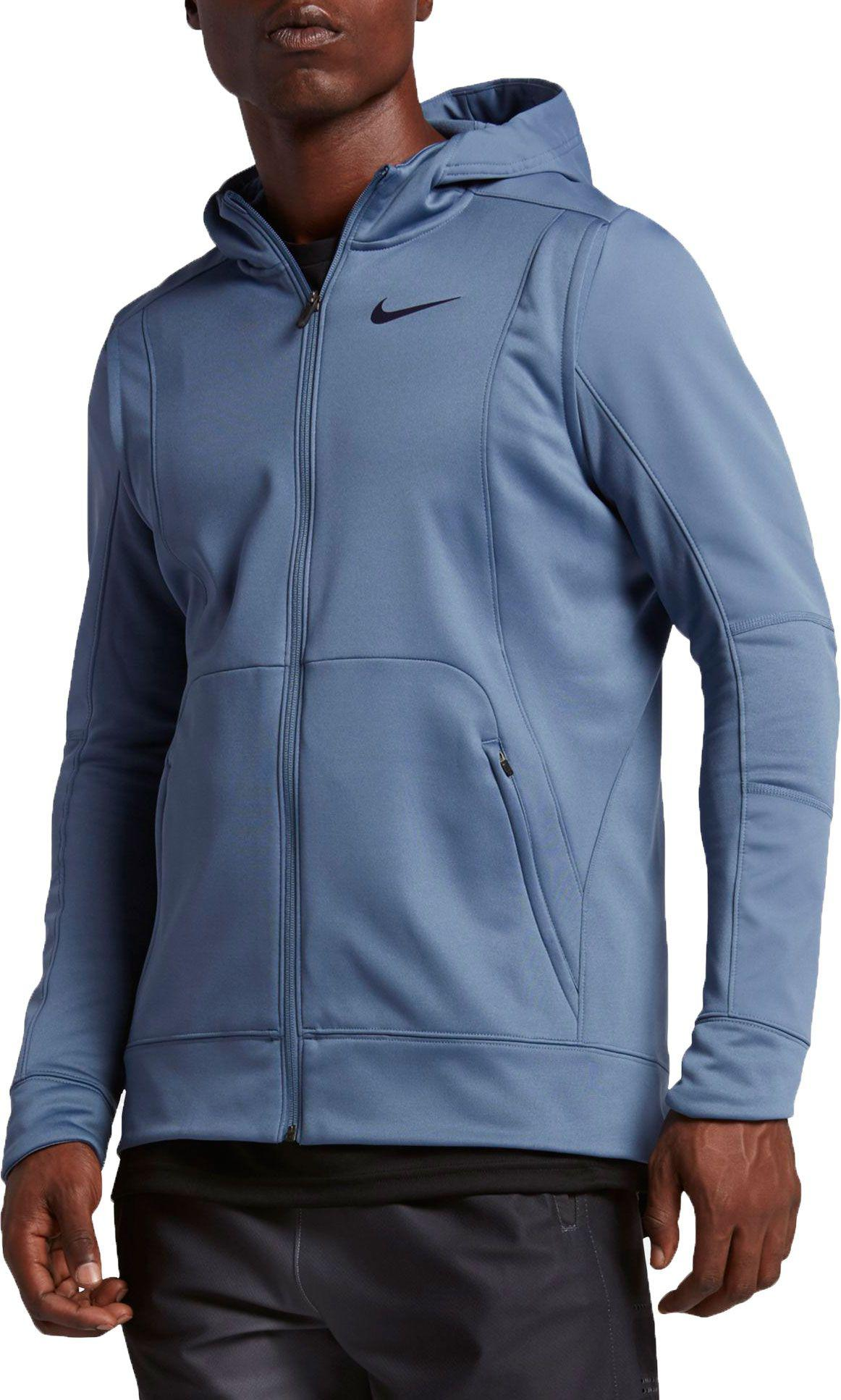 0f718e66fa2c Lyst - Nike Therma Hyper Elite Basketball Hoodie in Blue for Men