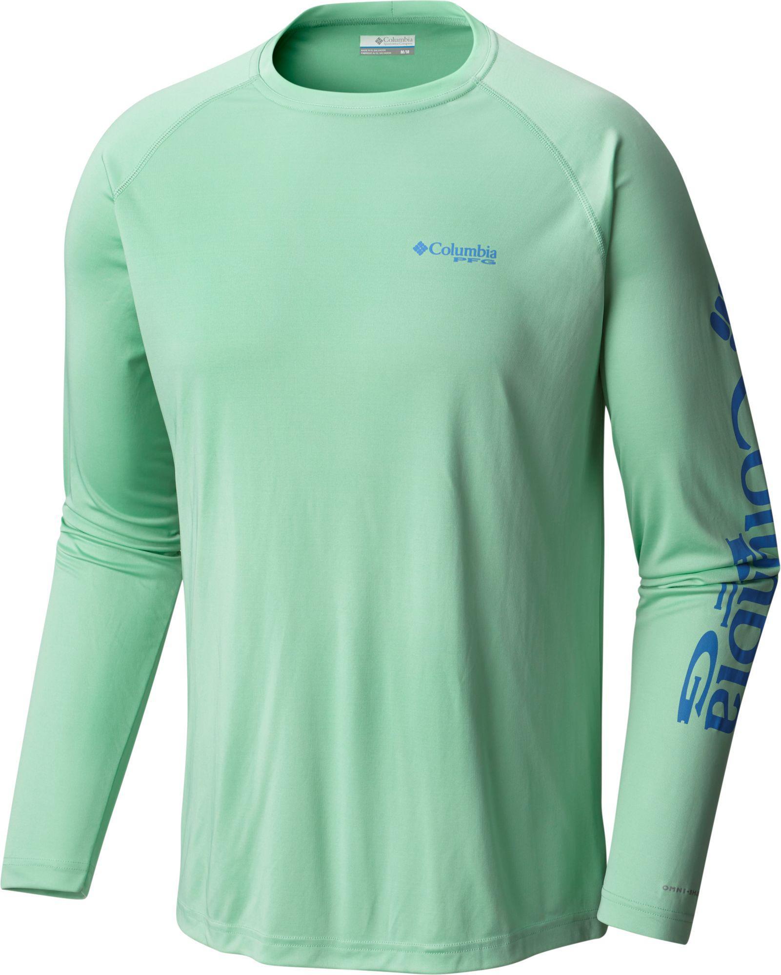 cdfd345ed89 Columbia - Green Pfg Terminal Tackle Long Sleeve Shirt for Men - Lyst. View  fullscreen