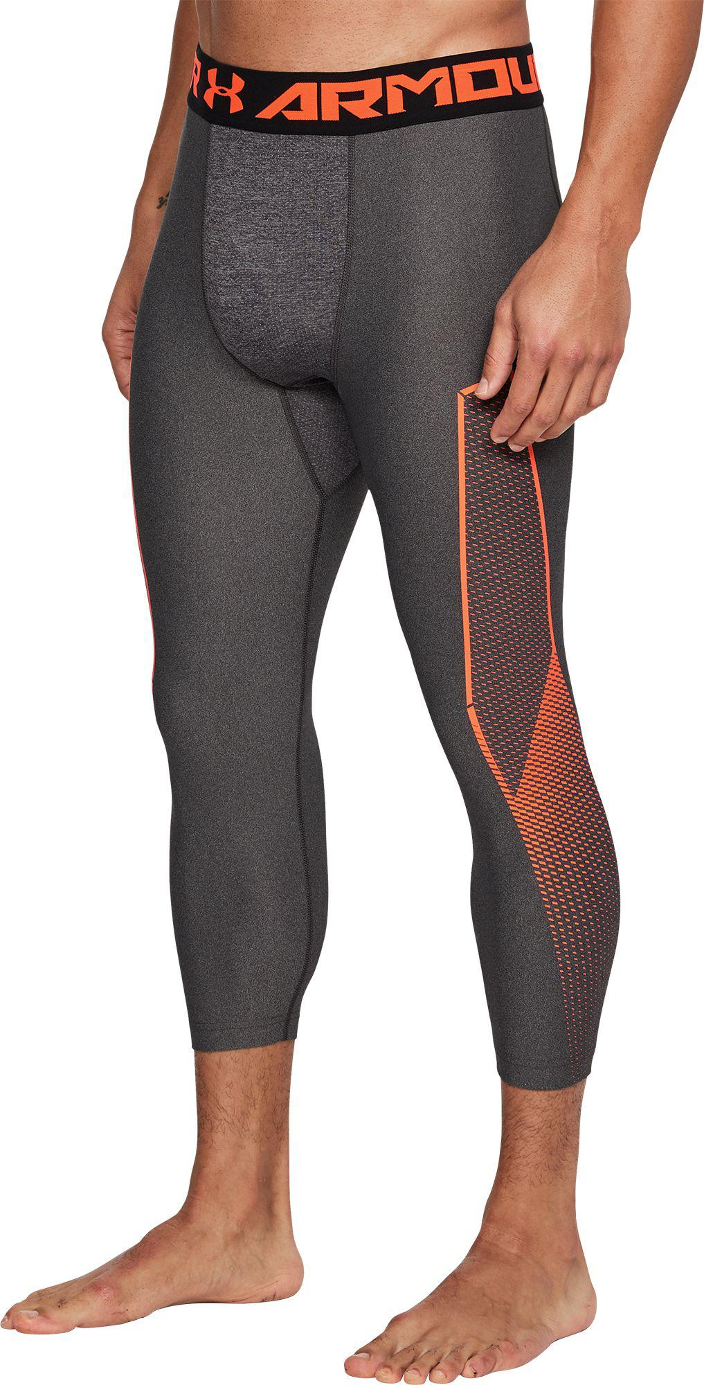 87fa0b50 Under Armour Gray Heatgear Armour Graphic 3/4 Length Tights for men