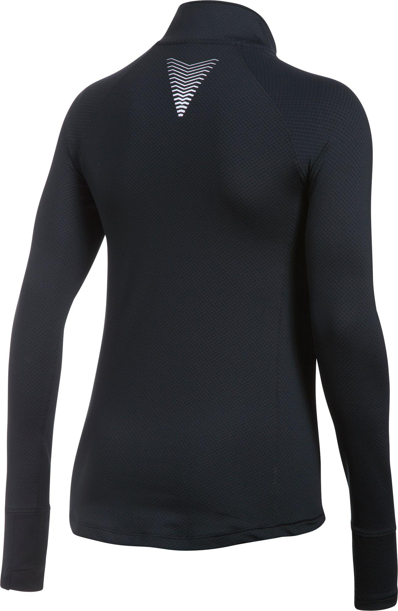 03f997b5 Under Armour Coldgear Reactor 1/2 Zip Long Sleeve T-shirt in Black ...