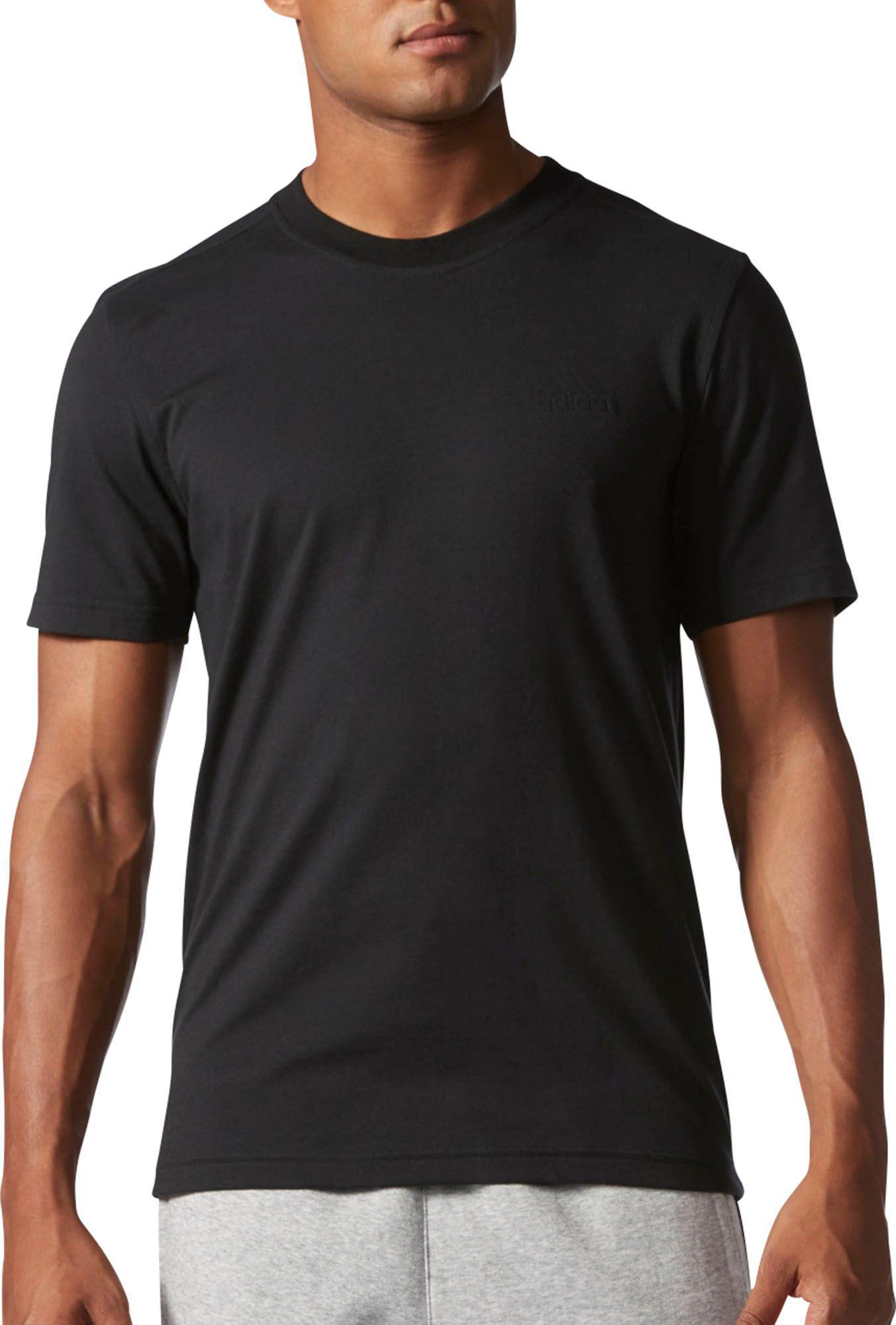 adidas 3 stripe essentials t shirt