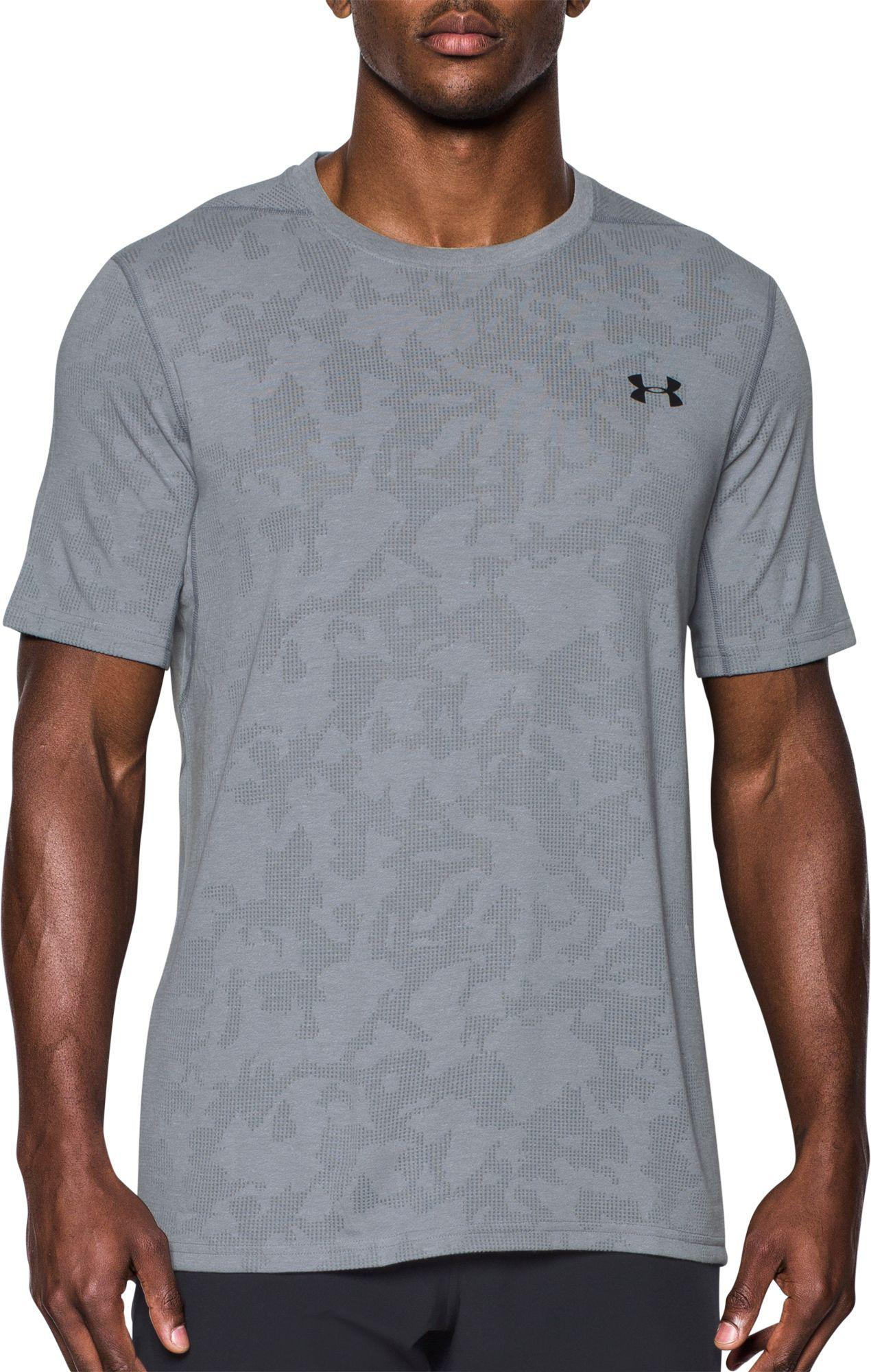 a125428e111 Under Armour Threadborne Elite Fitted T-shirt in Gray for Men - Lyst