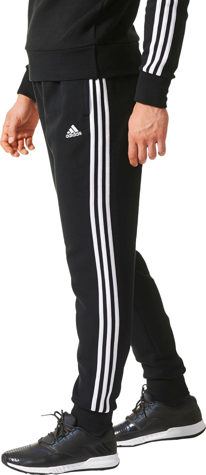 890eb08d80c4 Lyst - adidas Essentials 3-stripes Jogger Pants in Black for Men