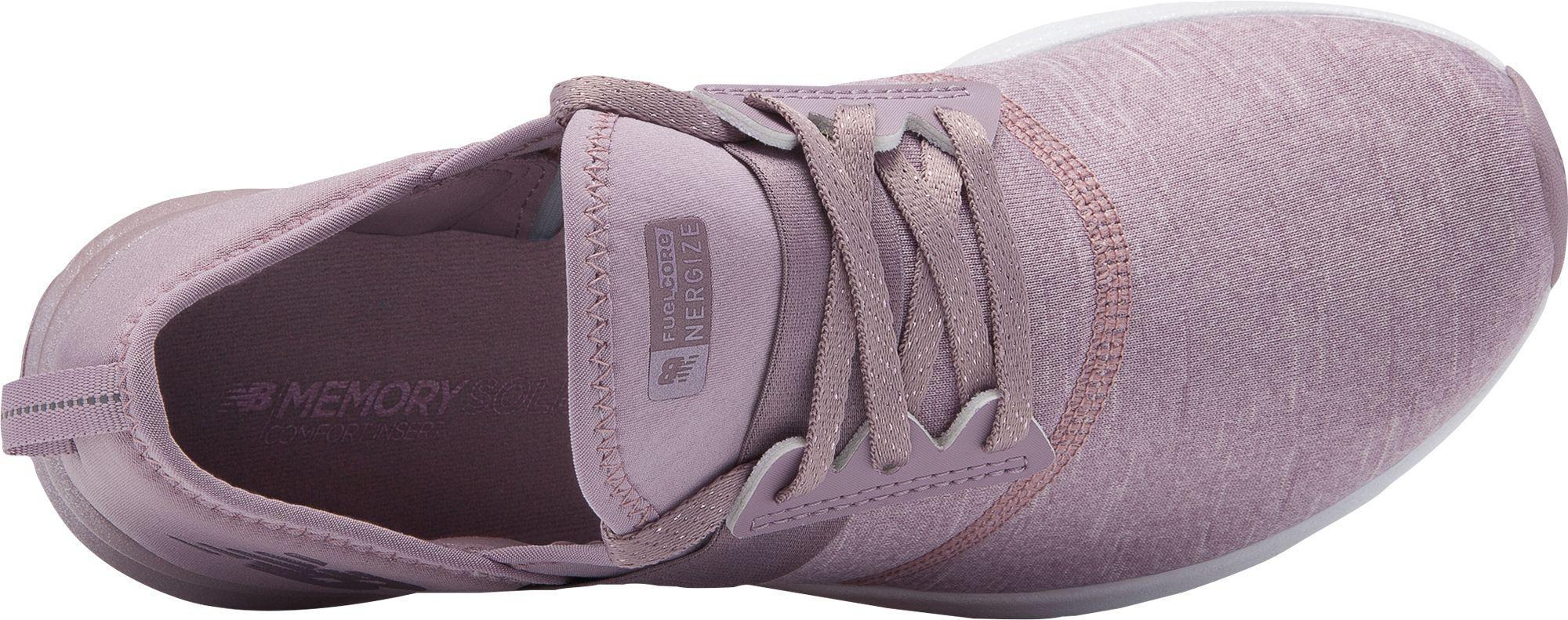76b89183 New Balance Purple Fuel Core Nergize Metallic Walking Shoes