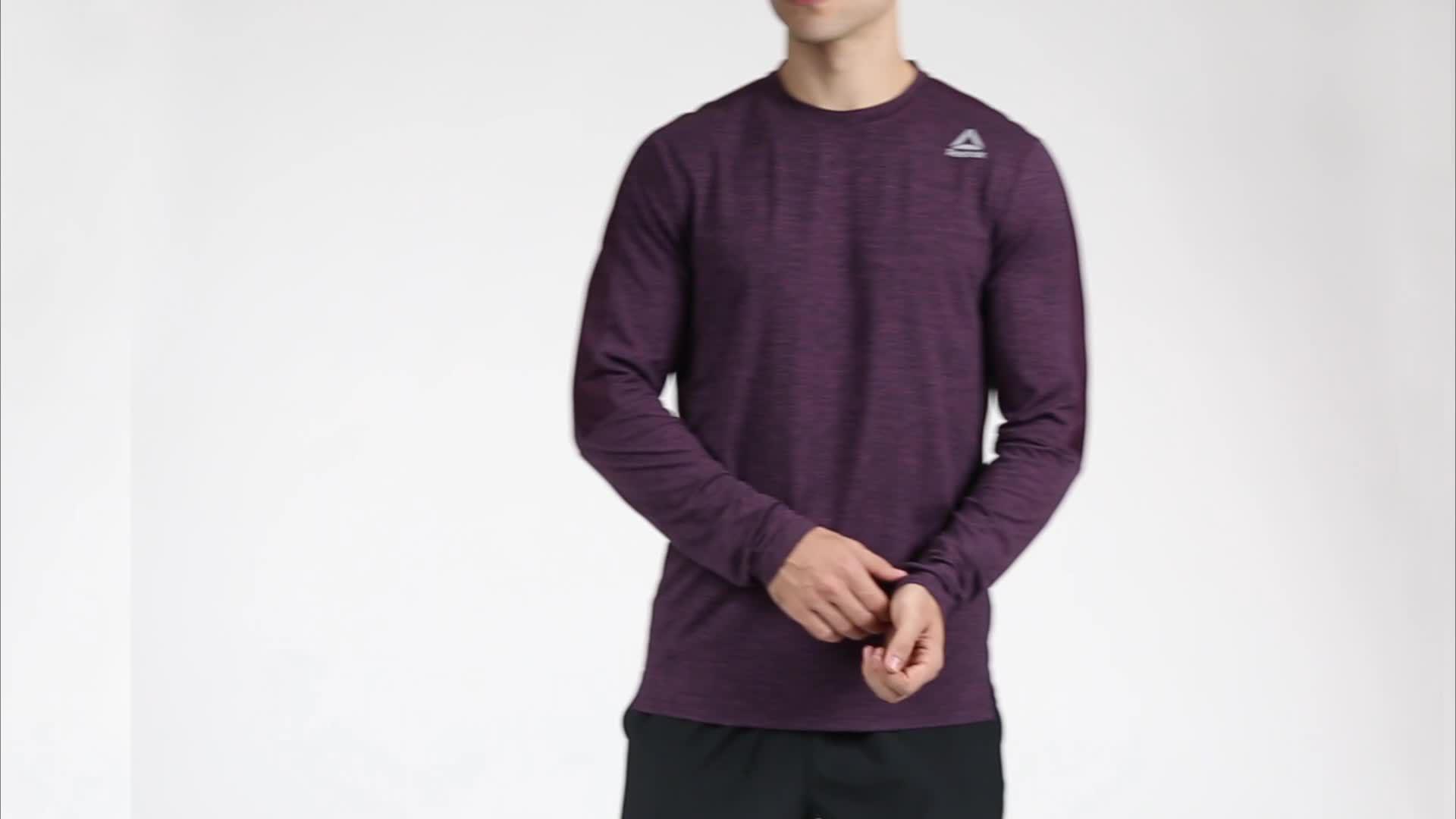 Brand New Reebok Men/'s 24//7 Crewneck Long Sleeve Shirt
