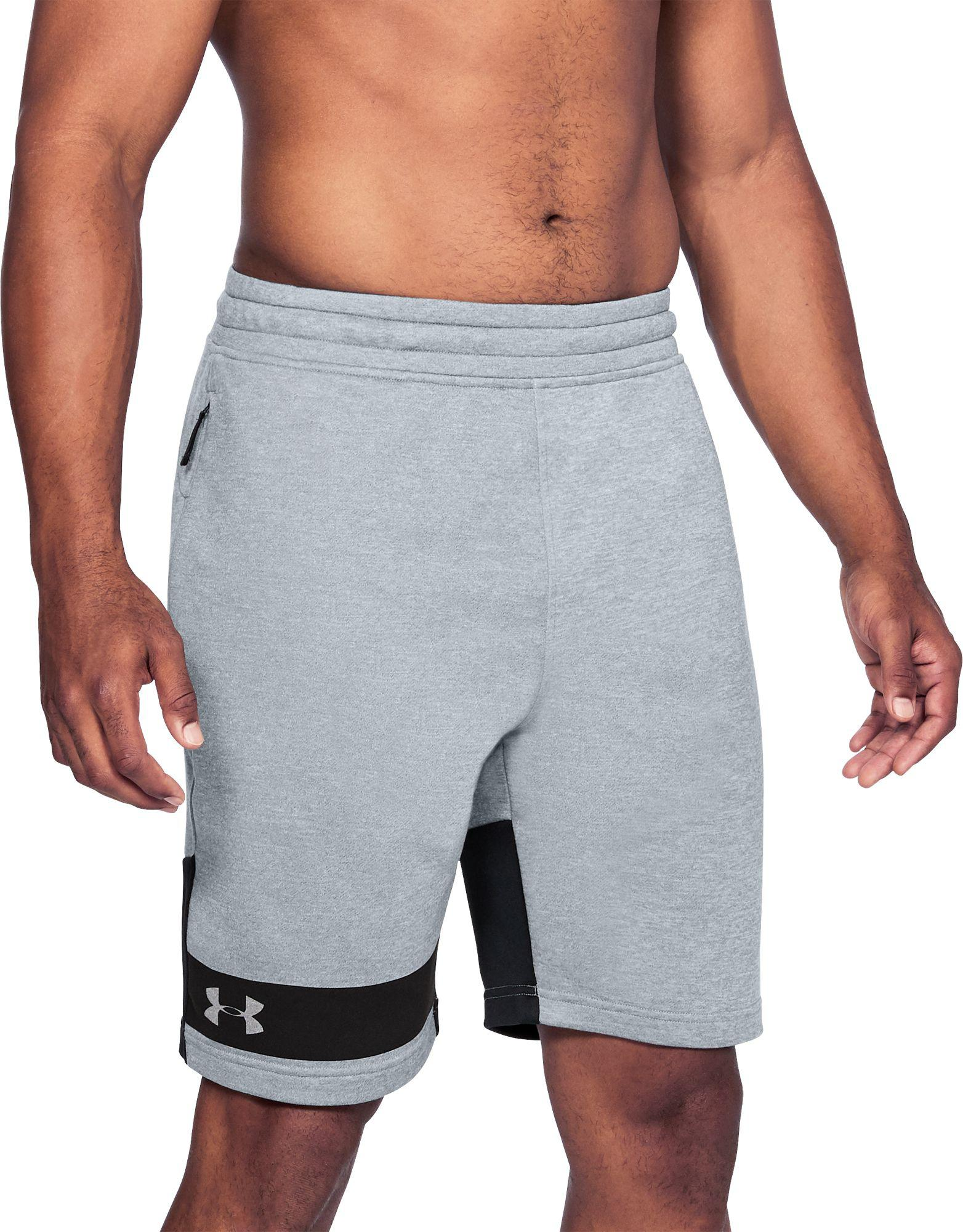 3c682504 Under Armour Mk-1 Terry Fleece Sweat Shorts in Gray for Men - Lyst