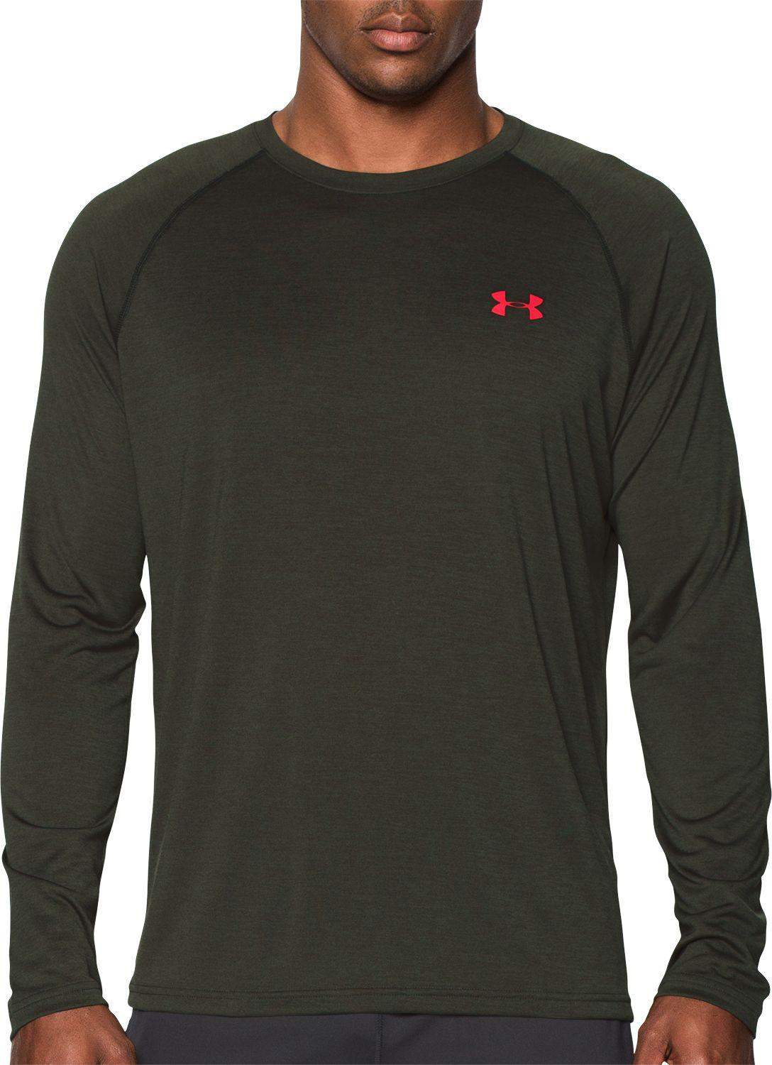46c43af8 Lyst - Under Armour Ua Tech Long Sleeve Novelty T-shirt in Green for Men
