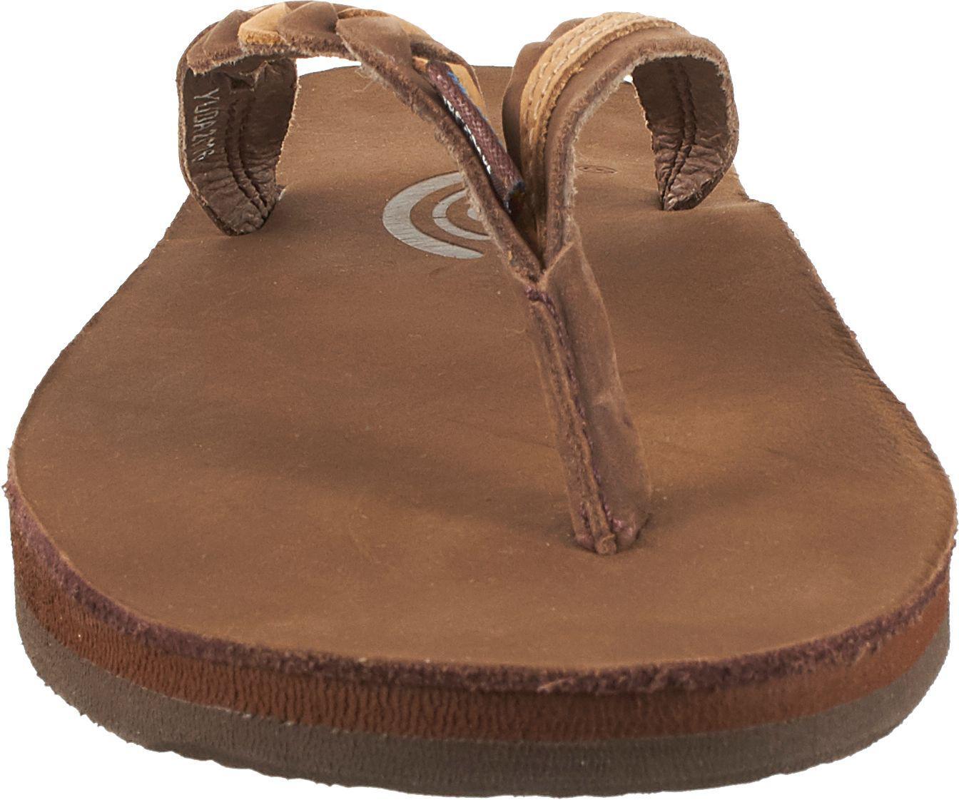 3fba9dba5 Rainbow Sandals - Brown Leather 301 Flirty Braid Twist Flip Flops - Lyst