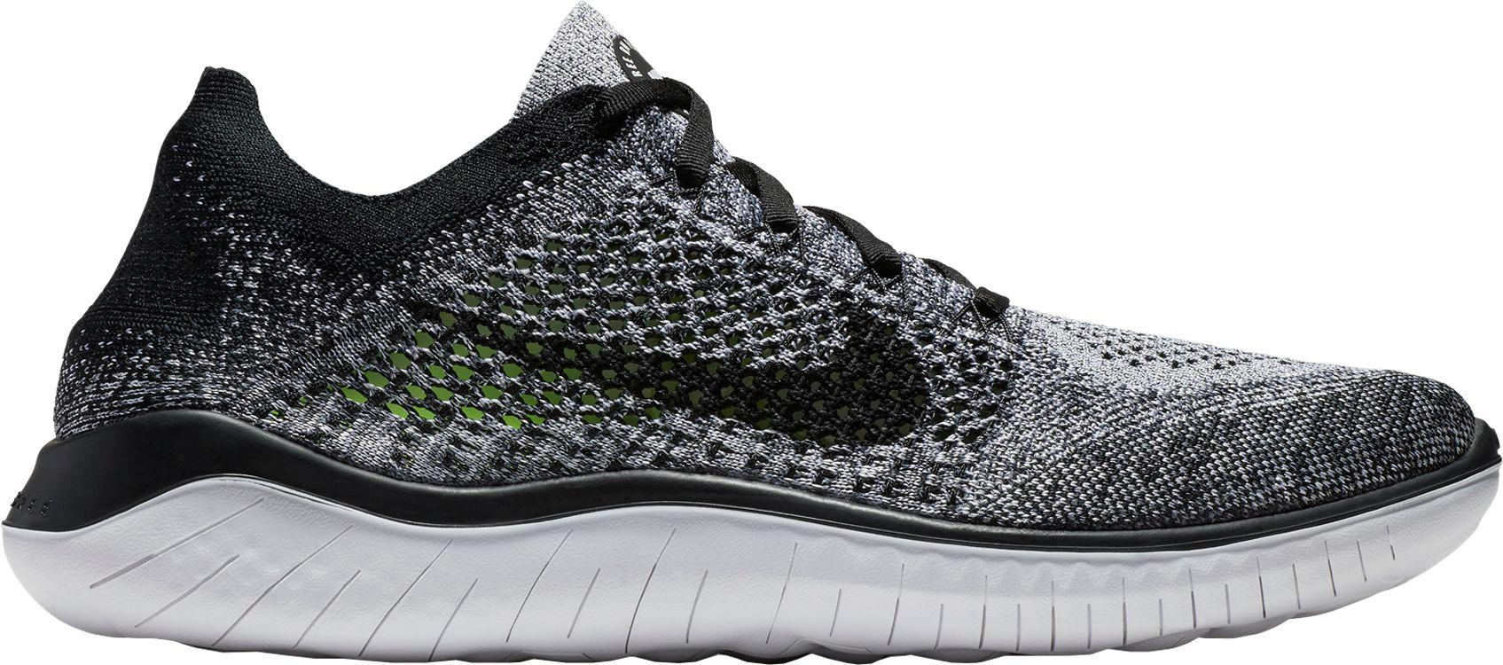 db7958dde27f8 Nike Wmns Free Rn Flyknit 2018 Competition Running Shoes, (white/black 101)  3 Uk