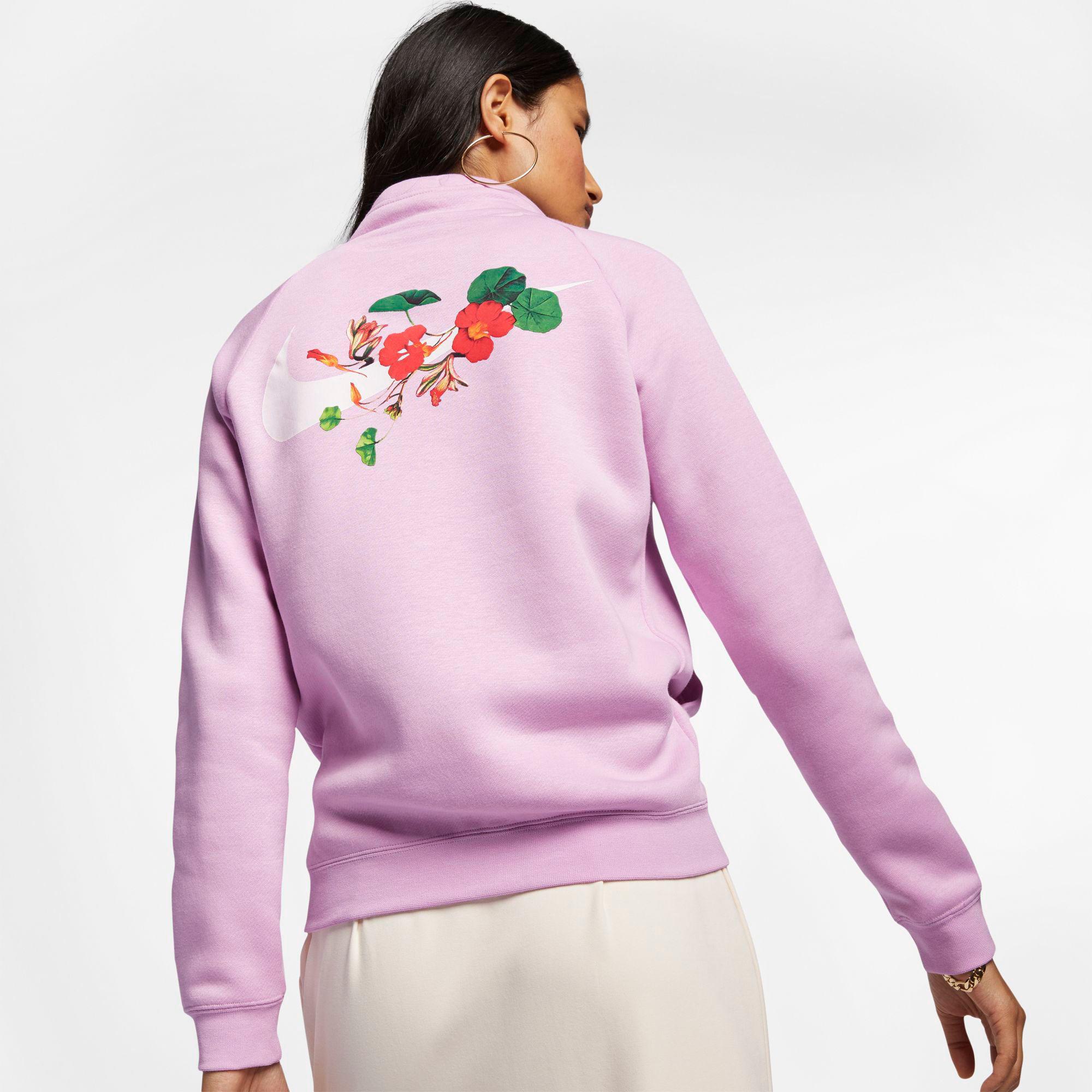Predownload: Nike Fleece Sportswear Femme Rally Half Zip Pullover In Pink Lyst [ 2000 x 2000 Pixel ]