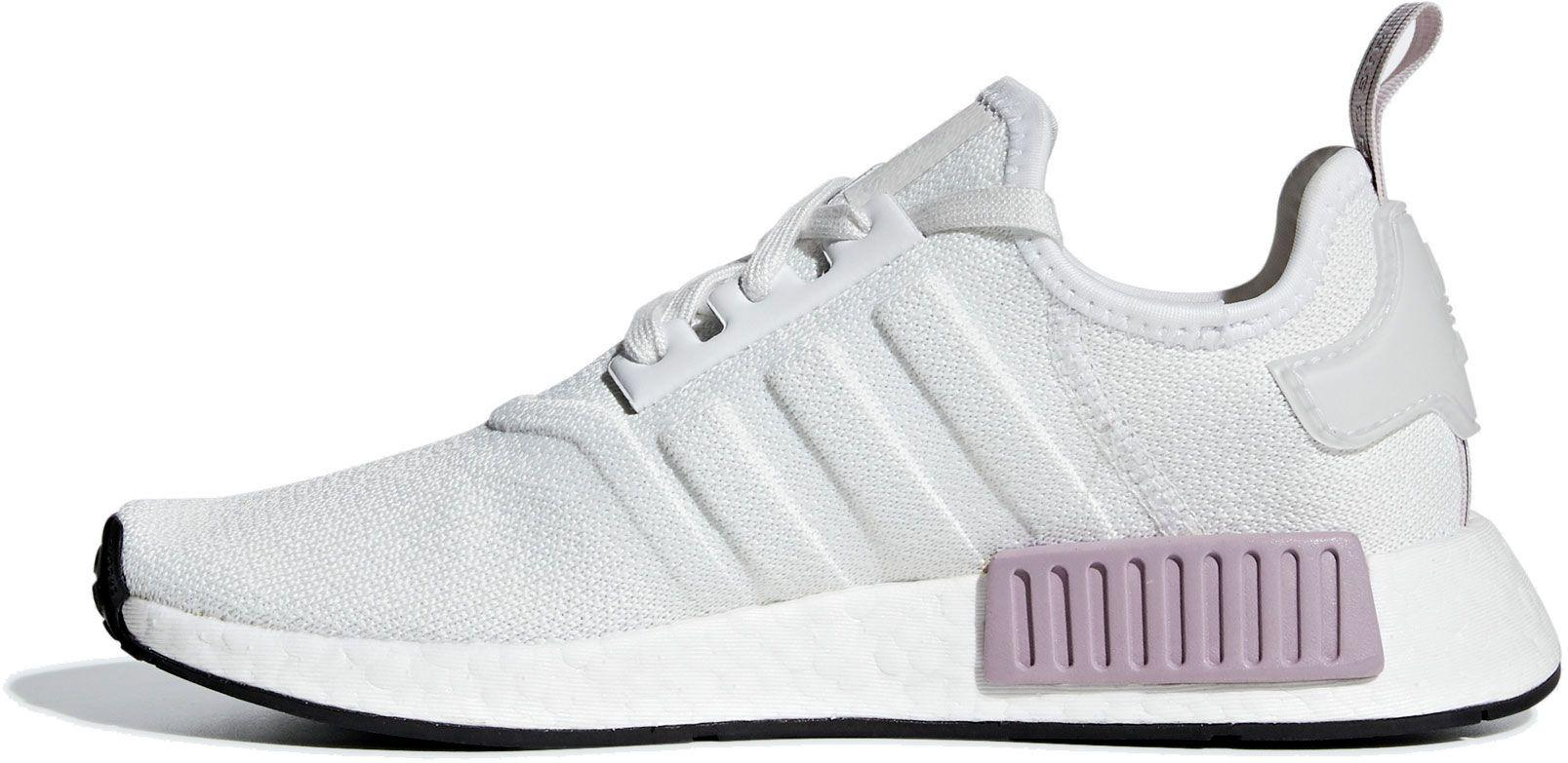 Adidas Suede Originals Nmd R1 Shoes In White Purple White Lyst
