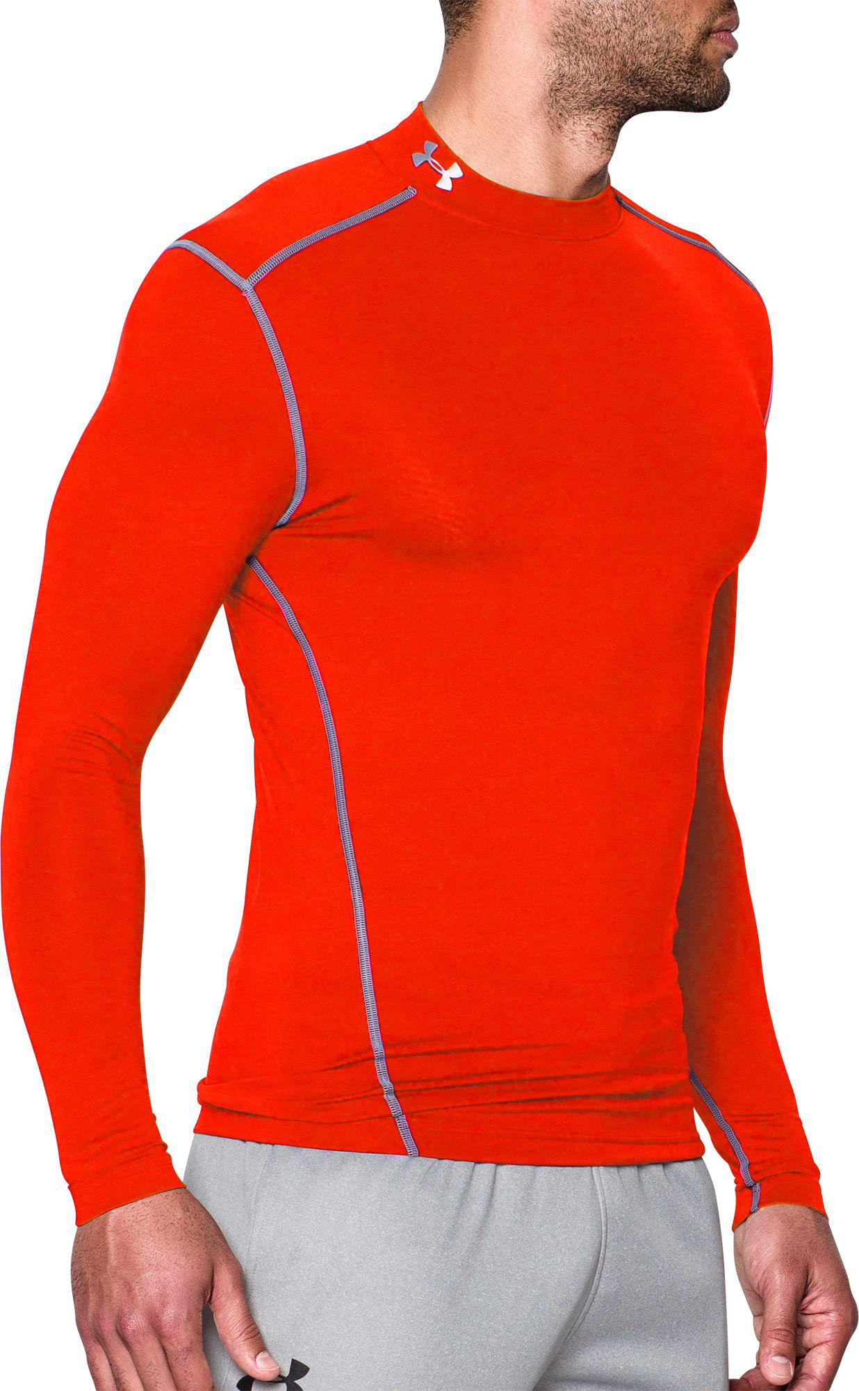 c6a7428d0 Under Armour - Orange Coldgear Armour Compression Mock Neck Long Sleeve  Shirt for Men - Lyst