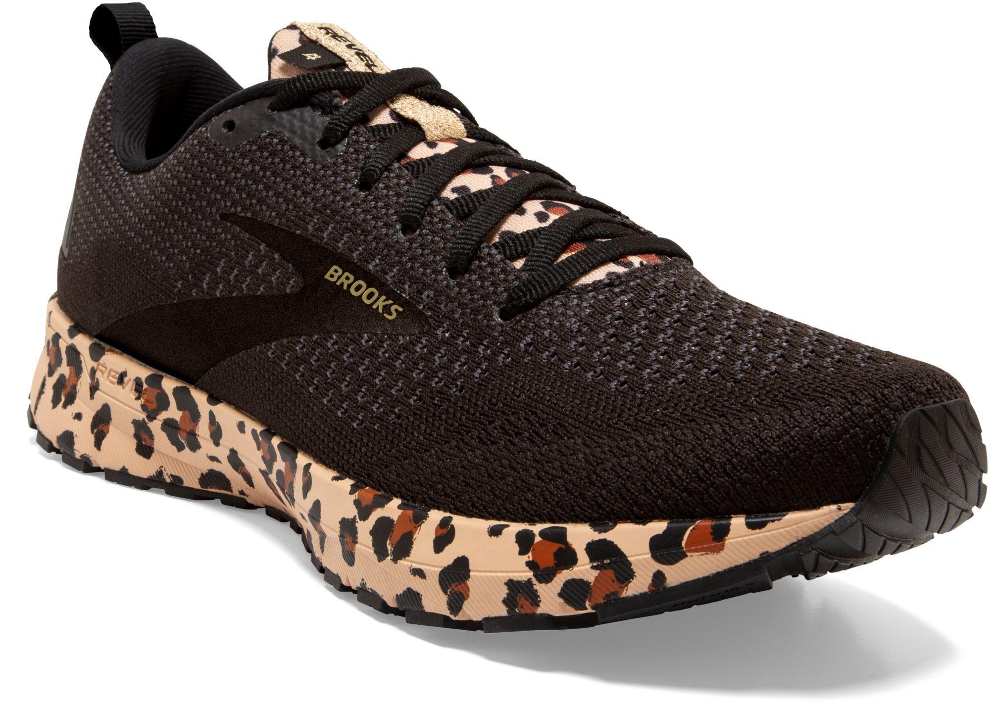 Brooks Revel 4 Leopard Print Running