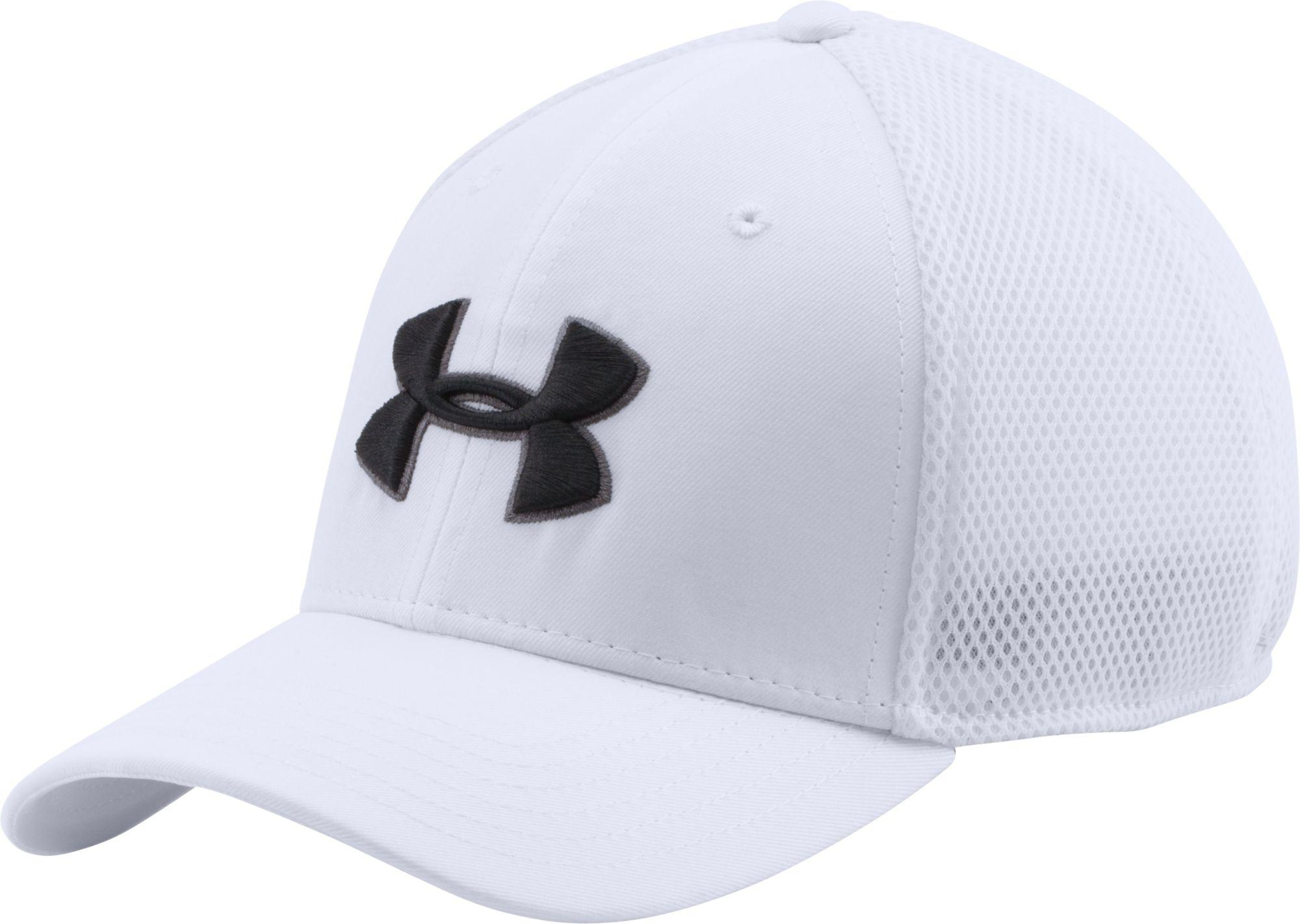 7671e95f4cd Lyst - Under Armour Mesh Stretch 2.0 Golf Hat in White for Men