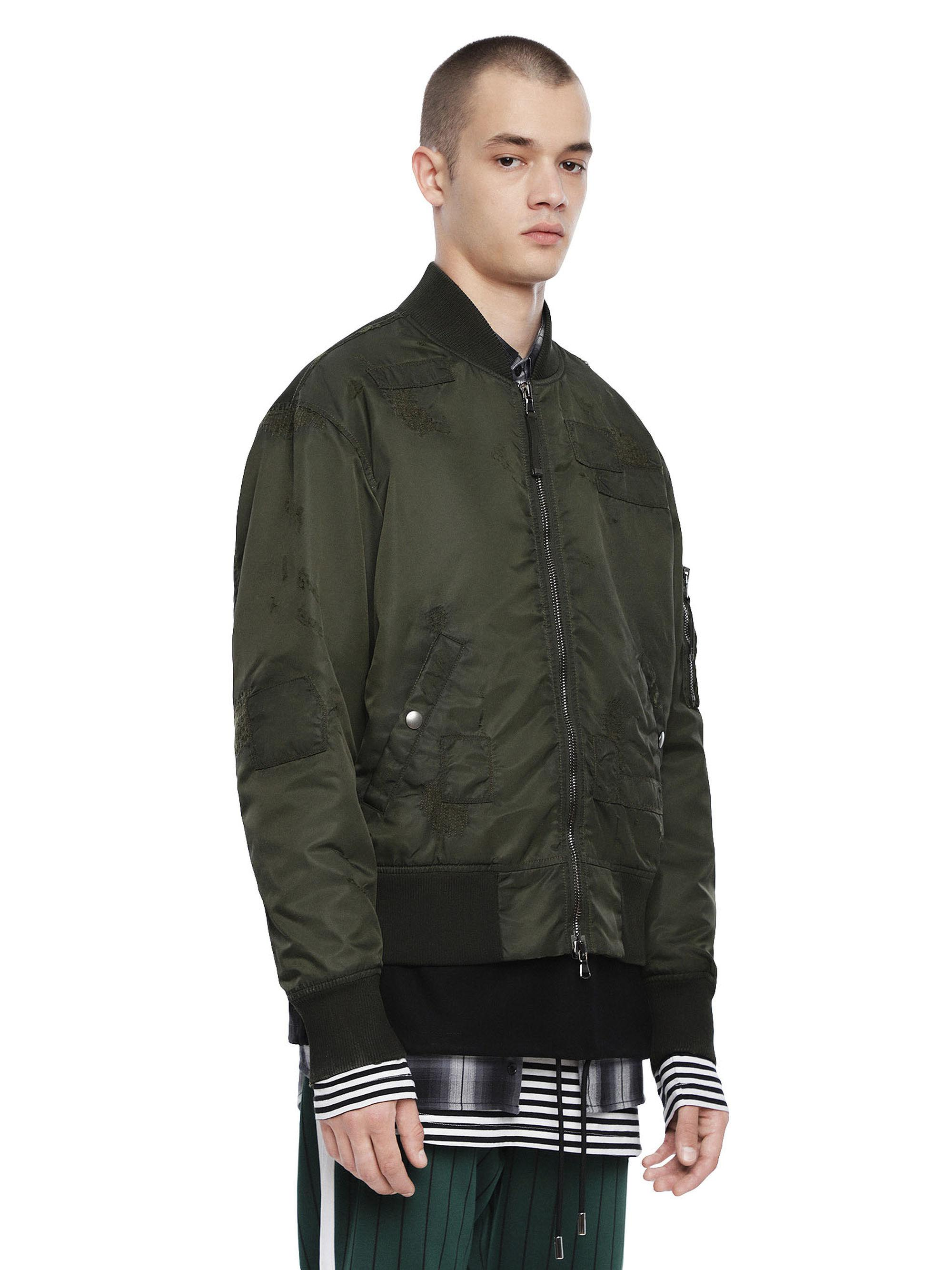 f35d49545dd4 Diesel Bomber Jacket With Tonal Patches in Green for Men - Lyst
