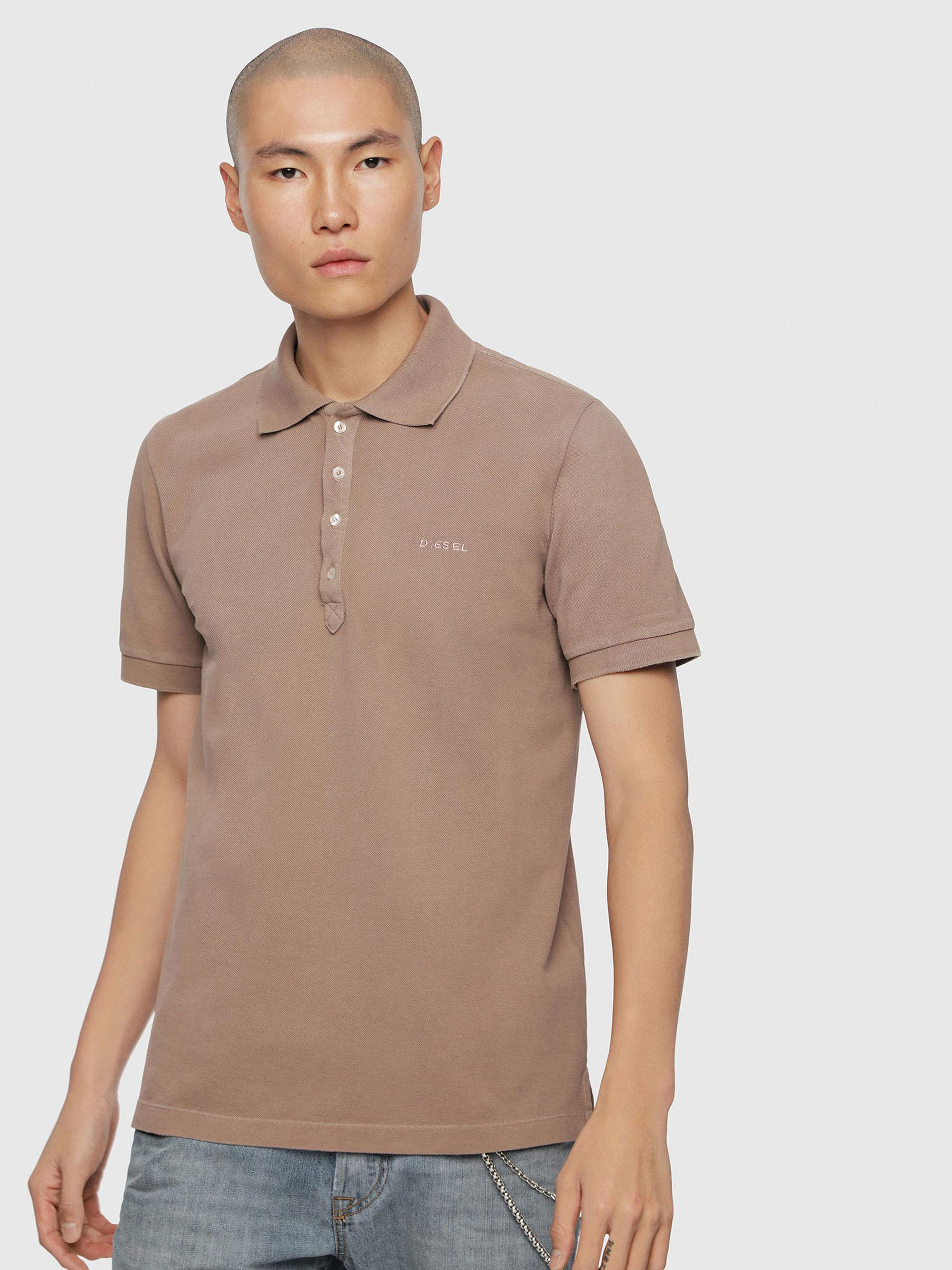 0e2ee431 Diesel Cotton Piquet Polo With Chest Logo for Men - Lyst