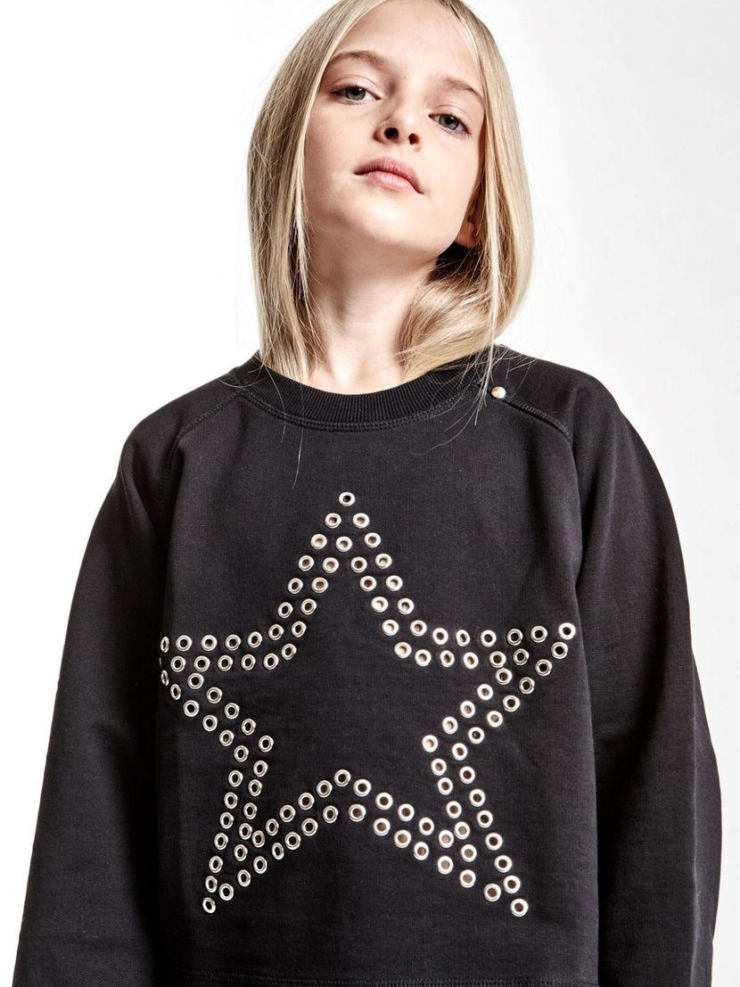 0f17a166a24f62 Diesel Sweater With Raglan Sleeves And Eyelet in Black - Lyst