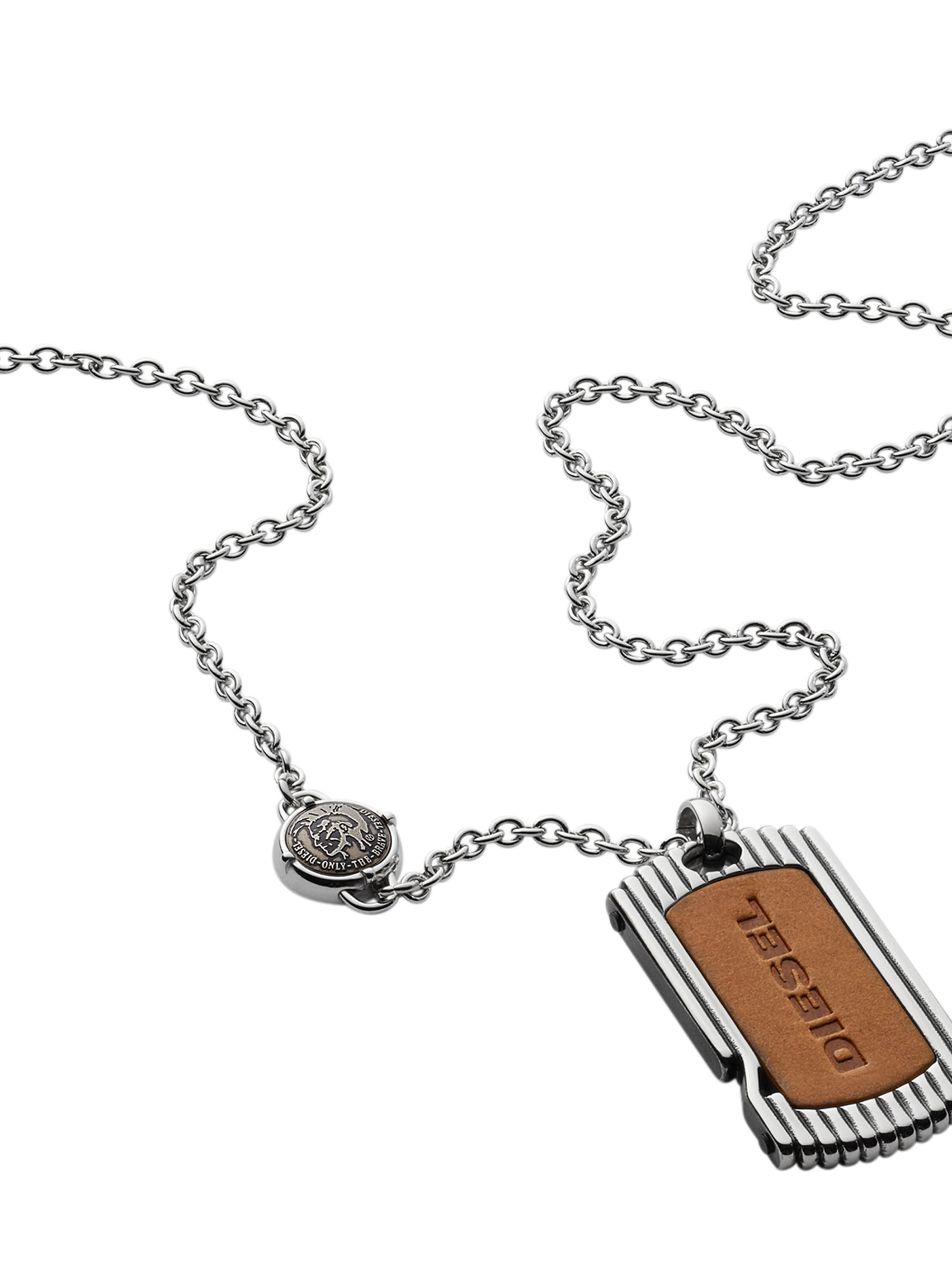 Diesel Necklace Dx0985 In Metallic For Men Lyst