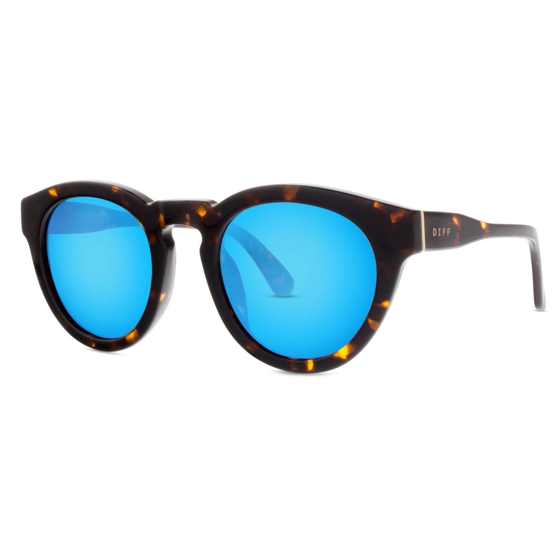0a5bdc179e Lyst - DIFF Dime Ll - Tortoise + Blue Mirror in Blue
