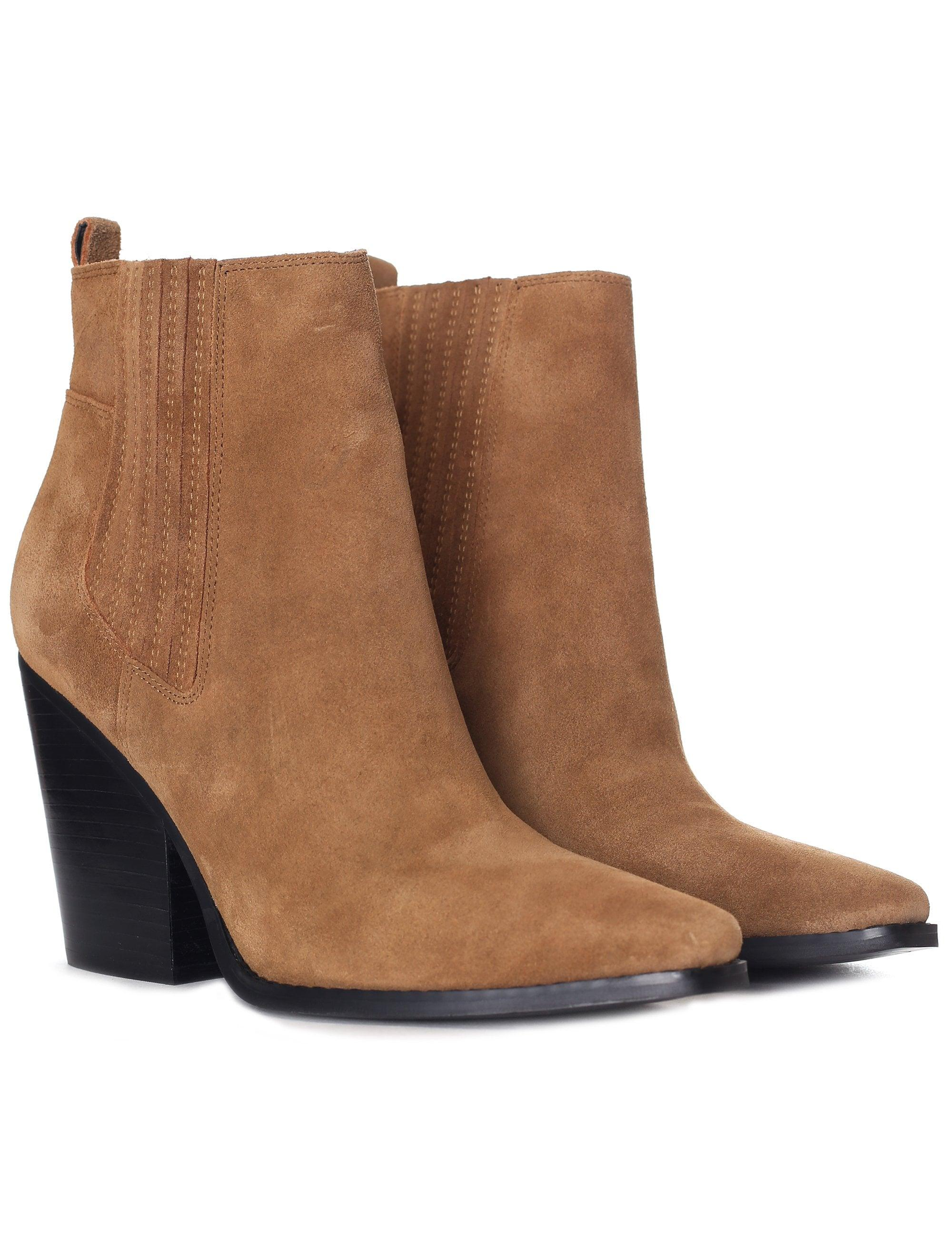 e9ba07d32ab Brown Women's Suede Colt Cowboy Ankle Boot Cool Saddle