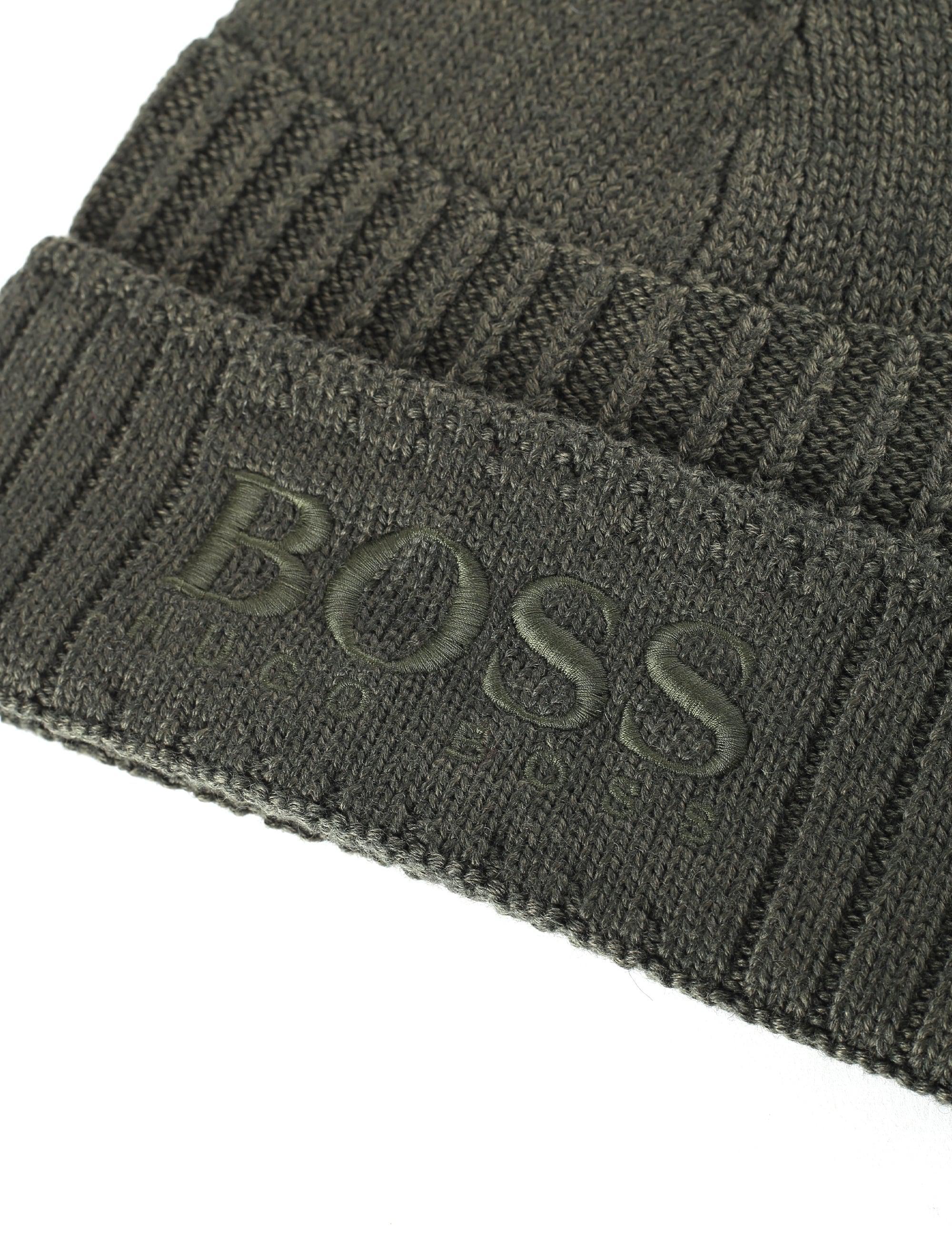 df171d04b BOSS by Hugo Boss Synthetic Men's Fenno Logo Beanie Dark Green for ...