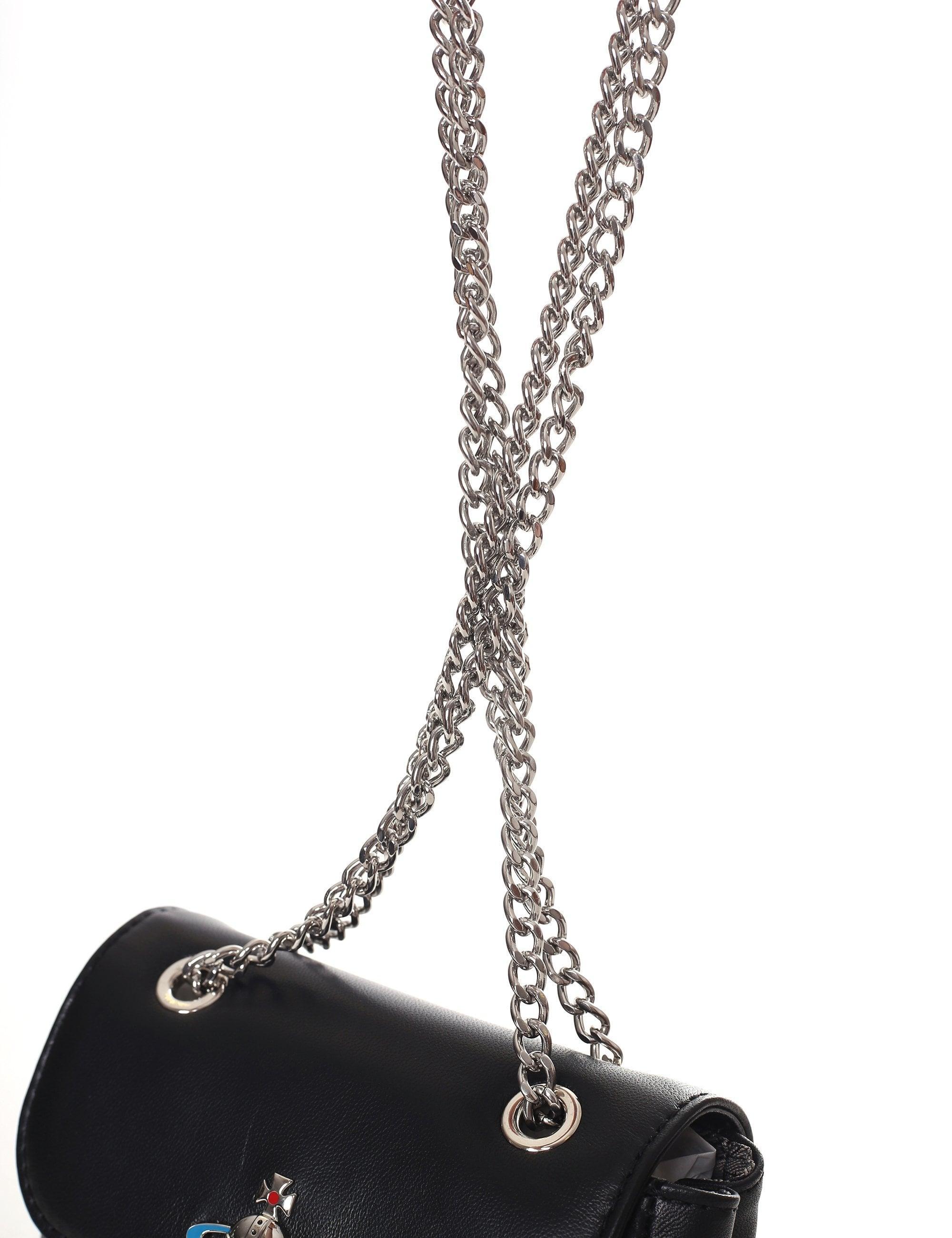 d89ce5096d7 Vivienne Westwood - Women's Emma Small Purse With Chain Black - Lyst. View  fullscreen