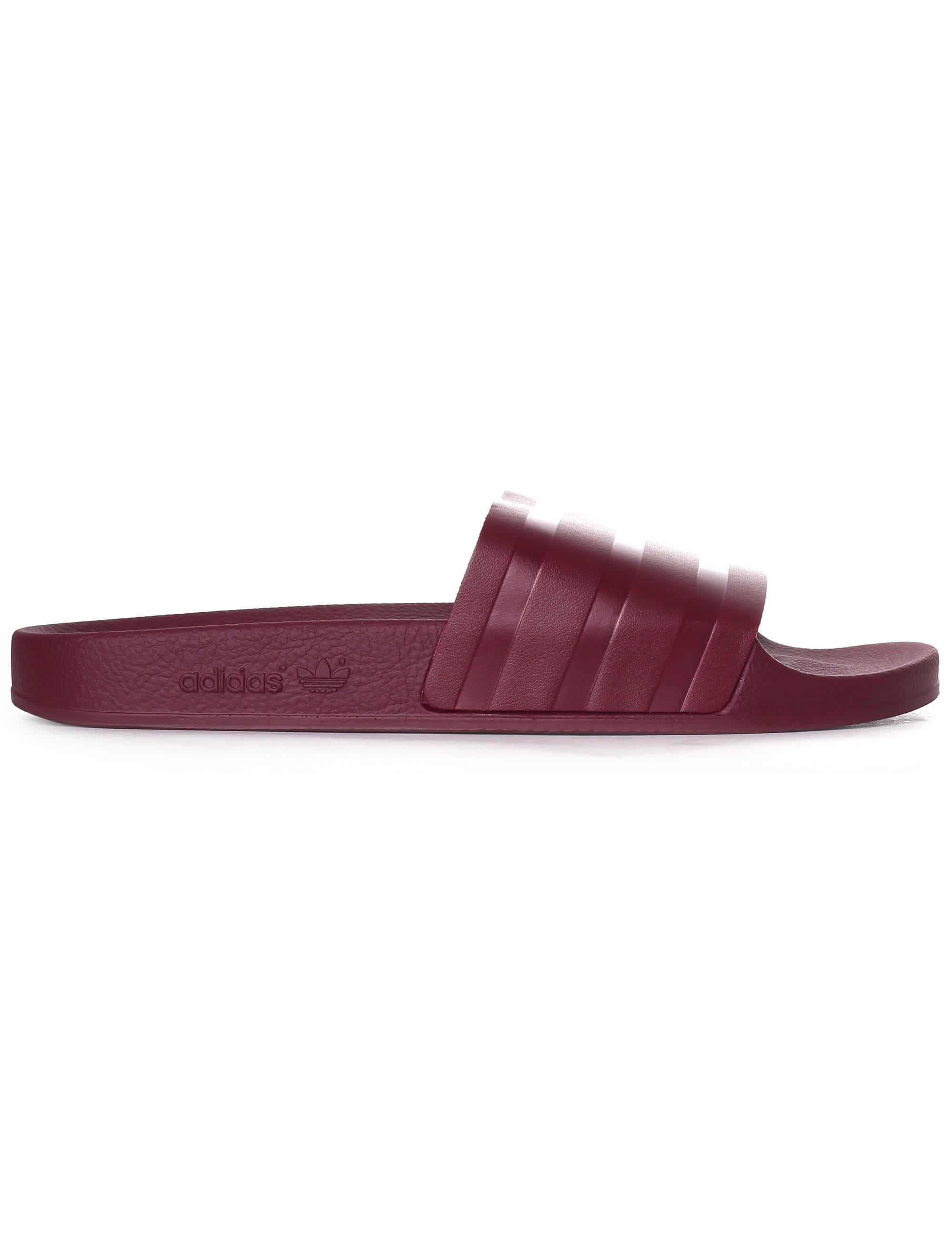 c512b13d7 Adidas - Purple Men s Adilette Slides Collegiate Burgundy for Men - Lyst.  View fullscreen