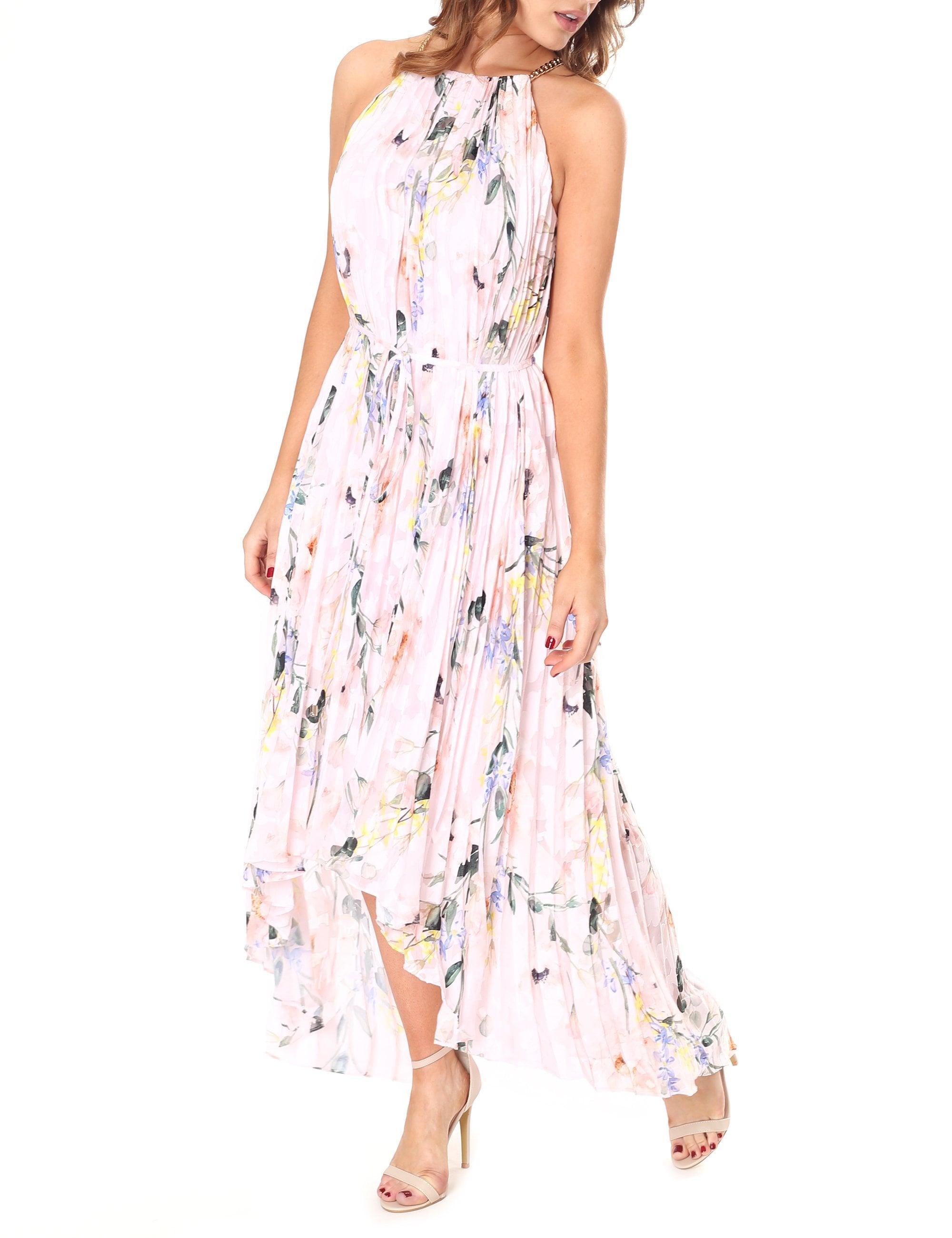 c428994b8 Ted Baker Valetia Elegance Pleat Dip Hem Dress in Pink - Lyst