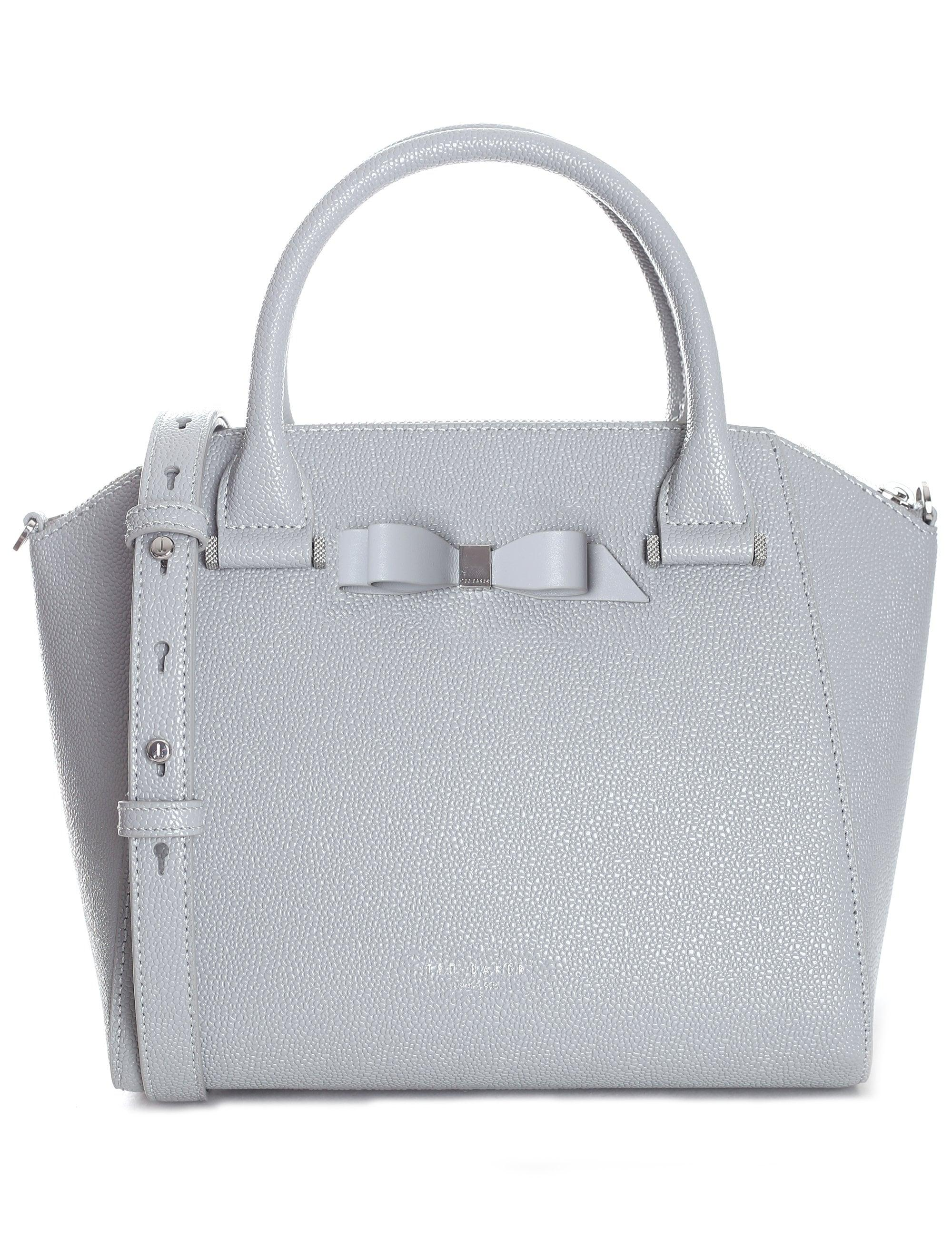 4ed5815385c6 Ted Baker Women s Bow Detail Zip Tote in Gray - Lyst