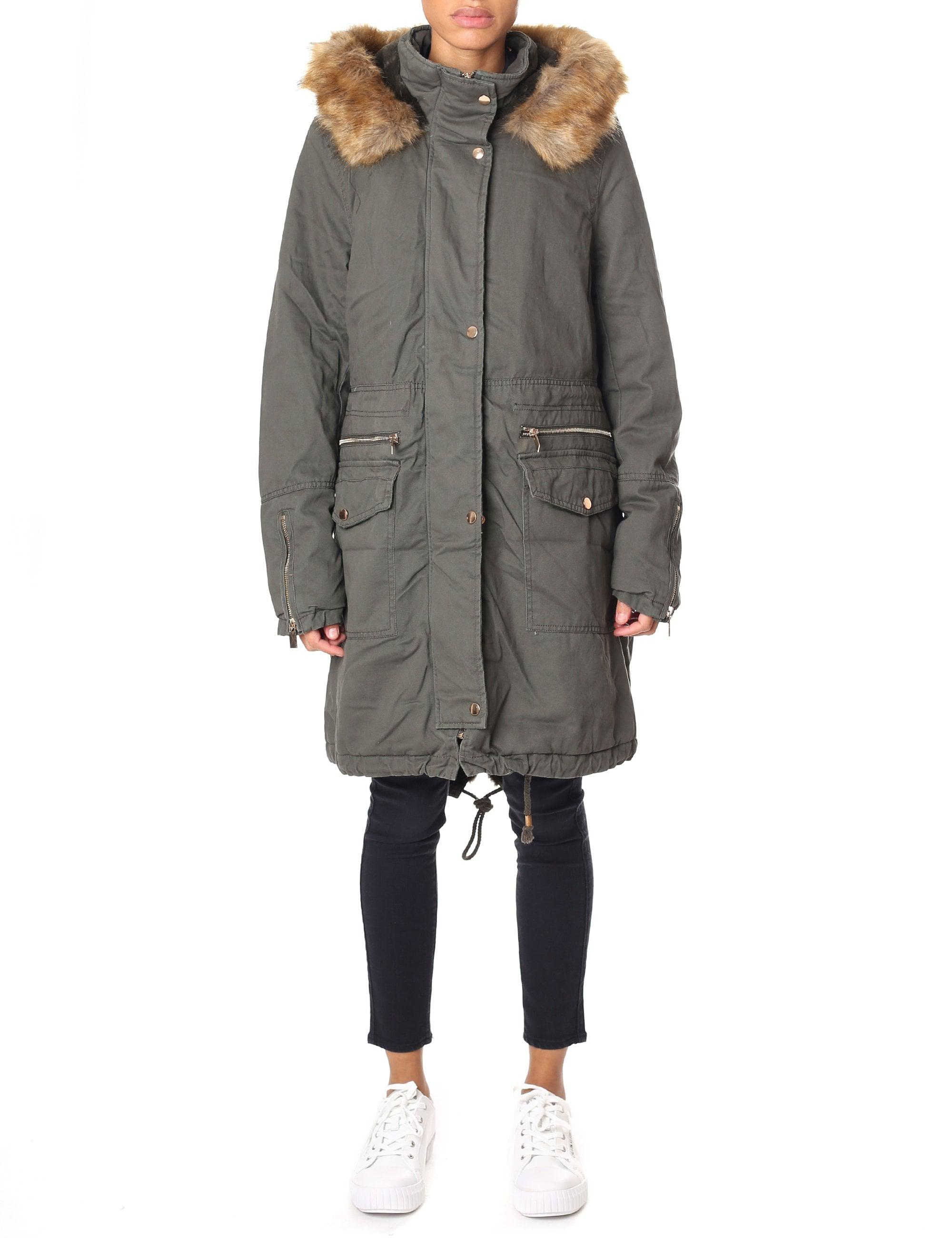 a65db19f68d Rino   Pelle Women s Leevy Parka With Fur Hood Olive in Green - Lyst