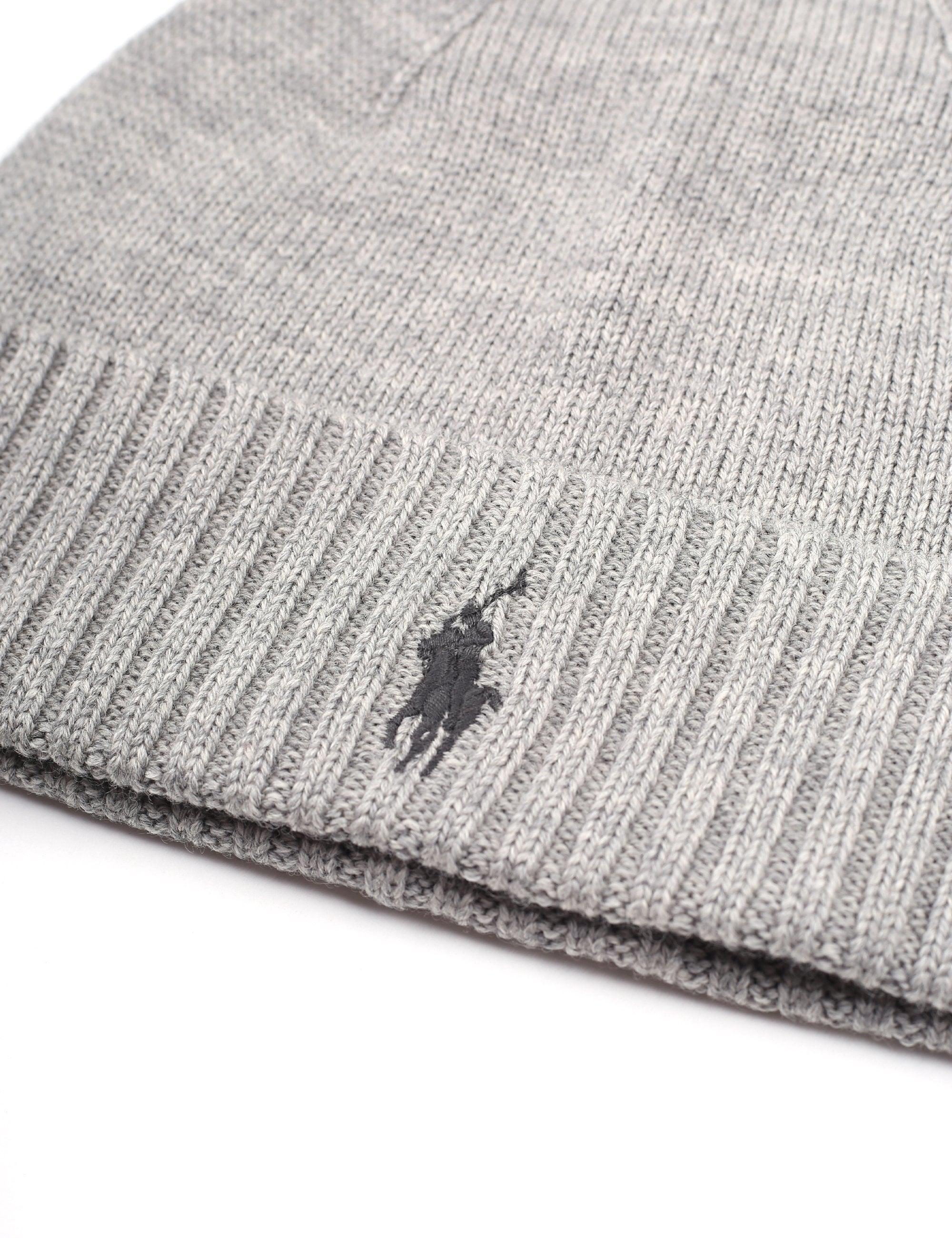 1327a1e901c Polo Ralph Lauren Men s Fo Beanie Hat Grey in Gray for Men - Lyst