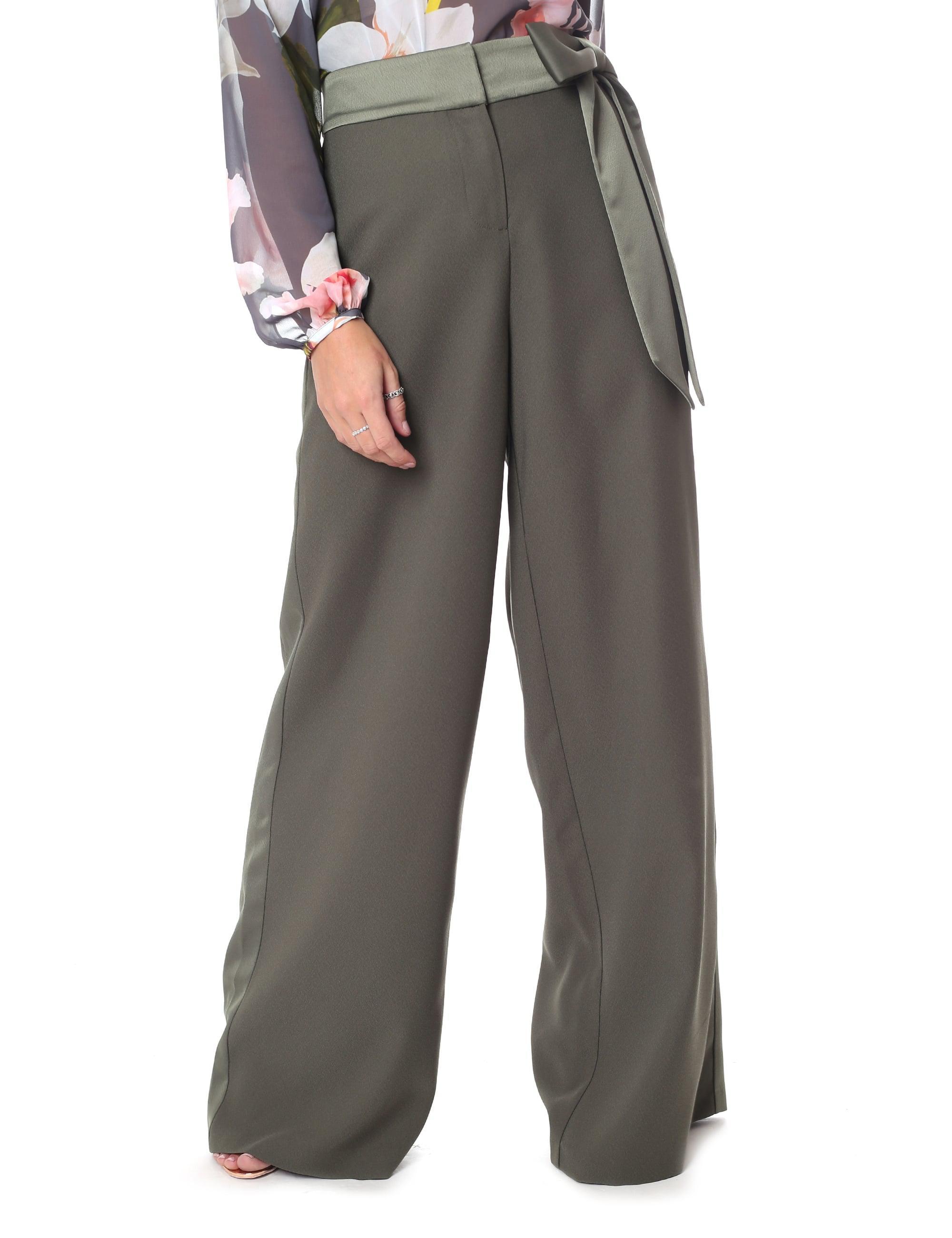 ef5e4799f Ted Baker Women's Jaymi Wide Leg Bow Waist Trouser Dark Green in ...