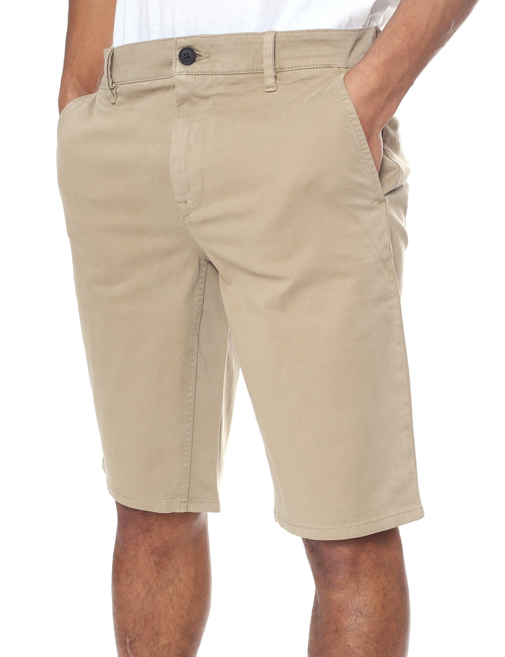 caa7c4e2d BOSS - Natural Slim-fit Chino Shorts for Men - Lyst. View fullscreen