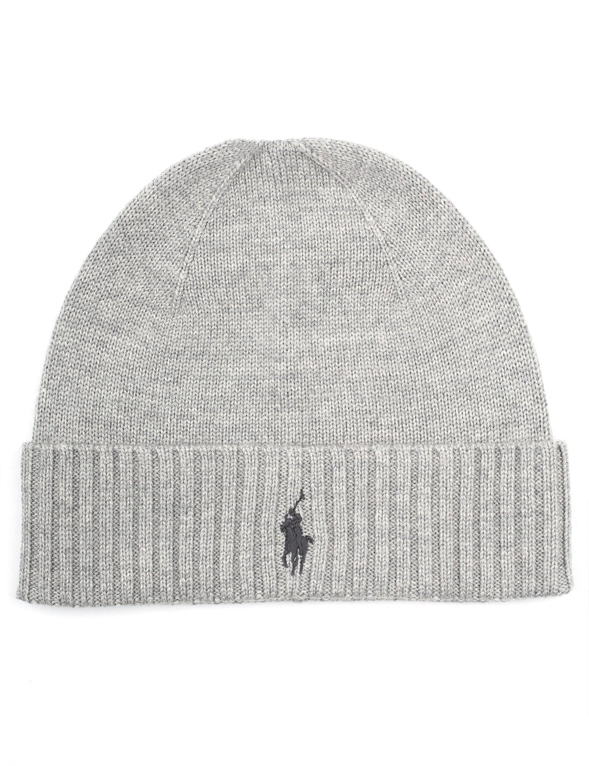 ecc59619e70 Polo Ralph Lauren Men s Fo Beanie Hat Grey in Gray for Men - Lyst