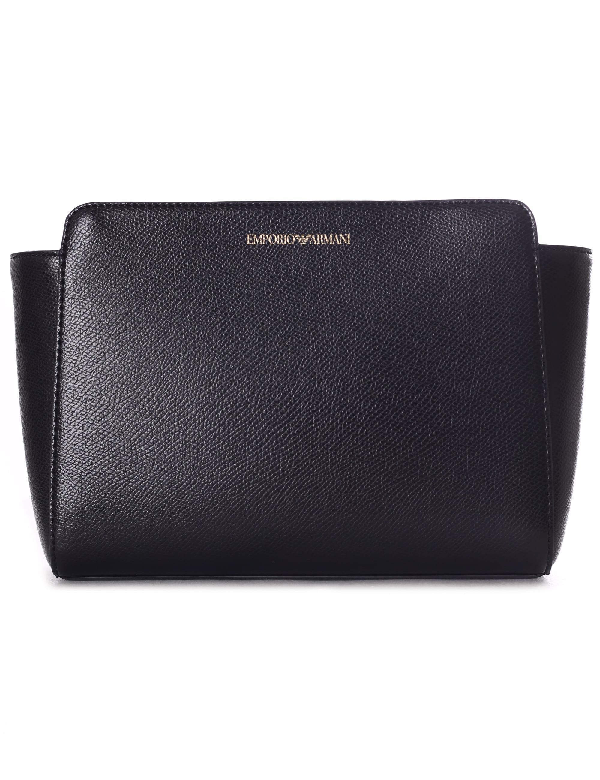 Emporio Armani Women s Medium Grain Crossbody Bag Black in Black - Lyst f89a48b097eca