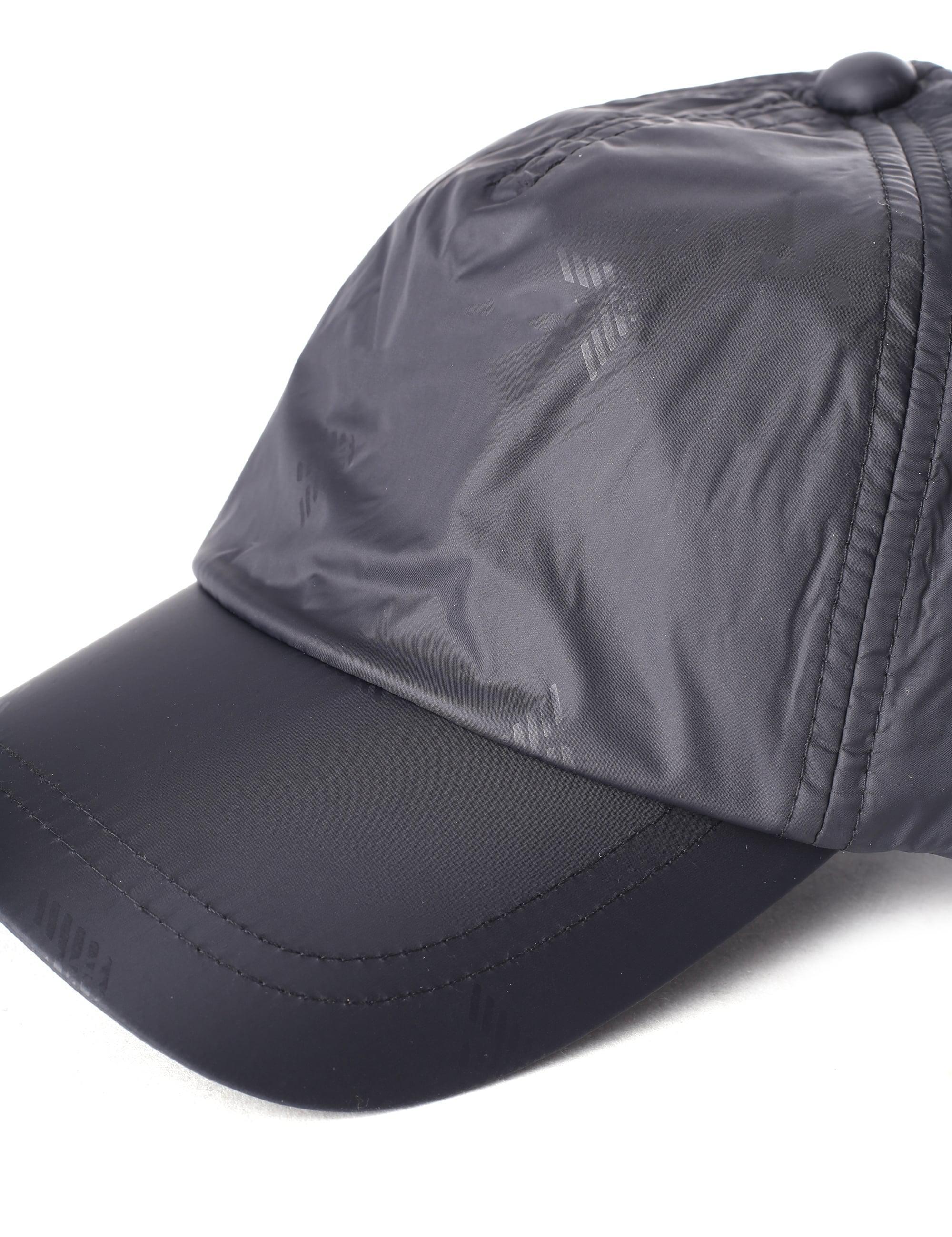 370d46c60 Emporio Armani - Men's Repeat Logo Baseball Cap Black for Men - Lyst. View  fullscreen