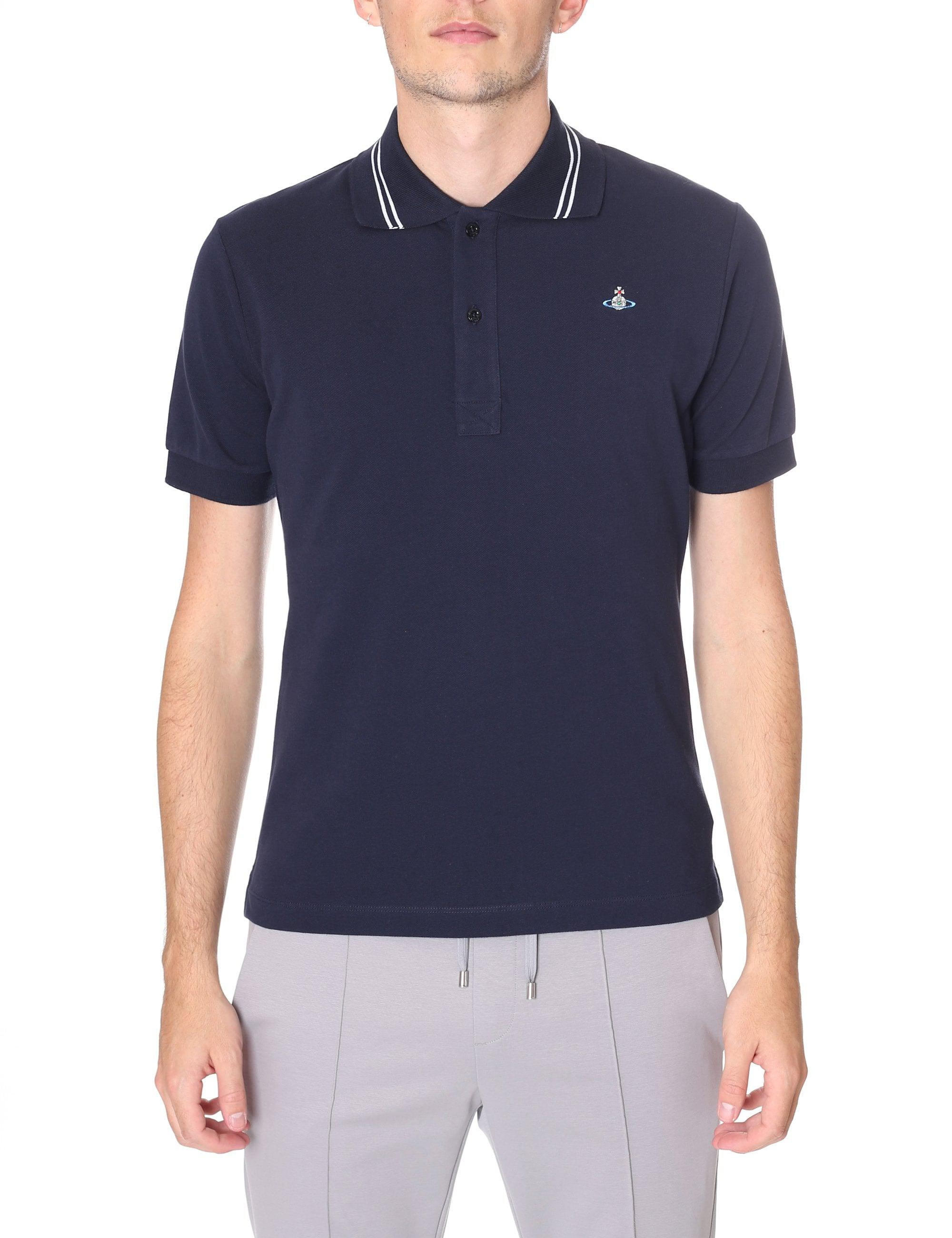 Vivienne Westwood Tipped Collar Short Sleeve Polo in Blue for Men - Lyst 8d159174b