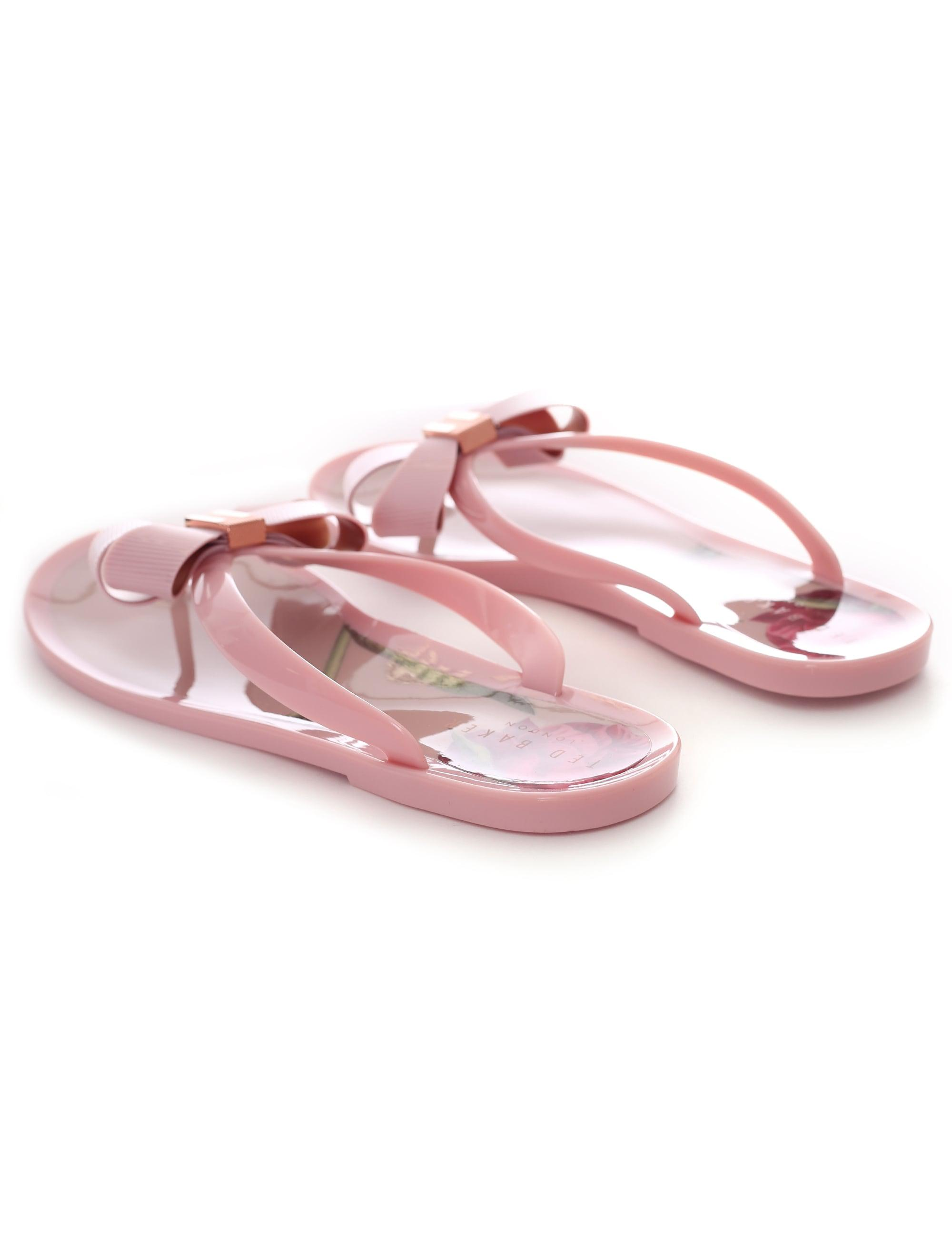 bfd99c6b2eec61 Ted Baker Suzie P Bow Detail Flip Flop in Pink - Lyst