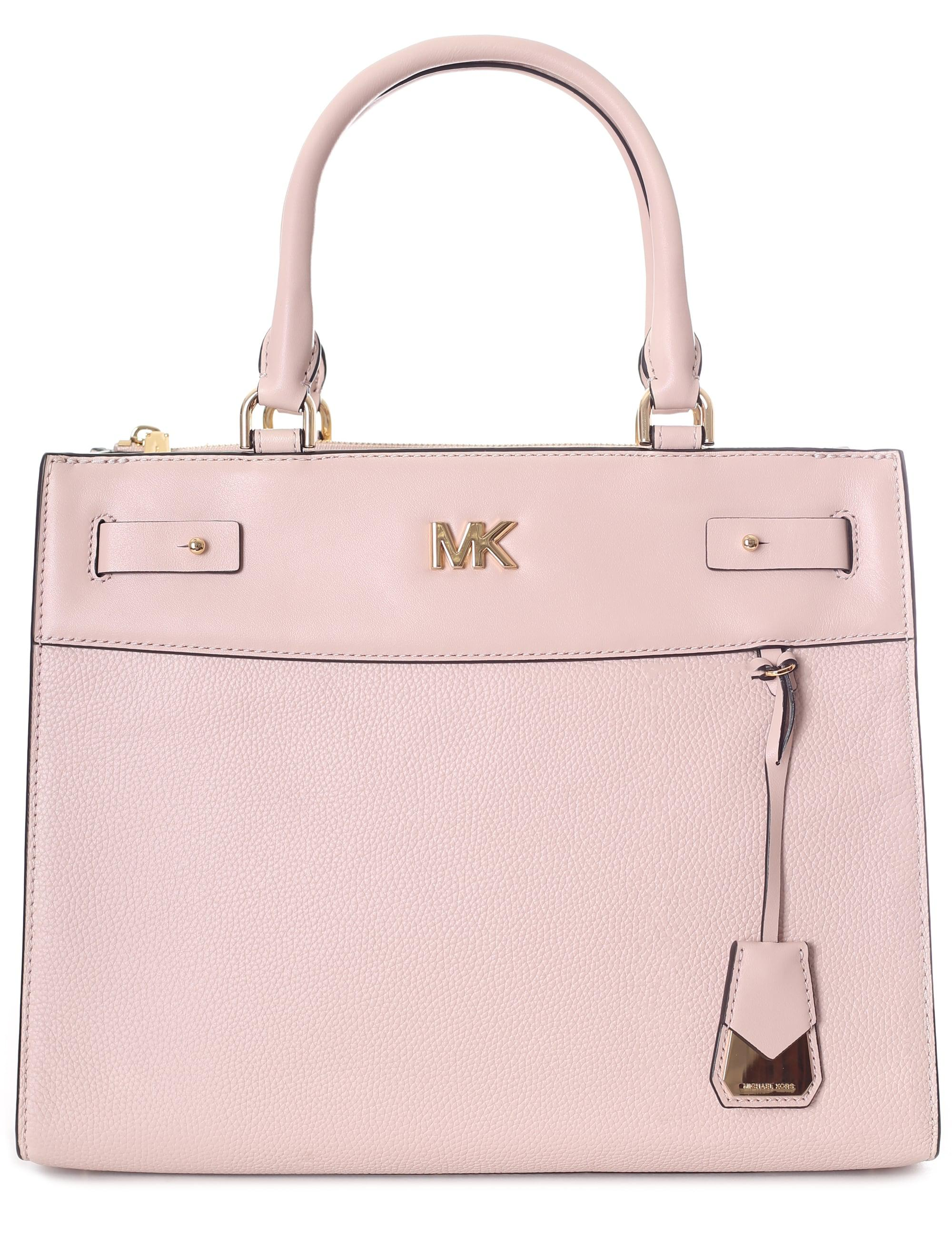 a336556988498e Michael Kors Reagan Large Satchel Bag in Pink - Lyst