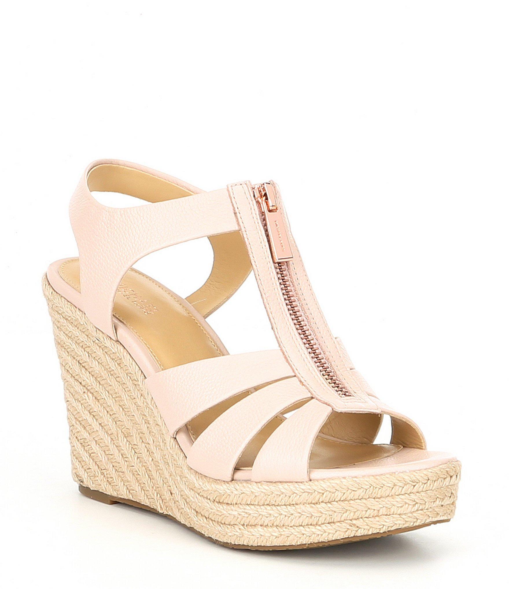 93f4001eda0 MICHAEL Michael Kors Pink Berkley Espadrille Wedge Sandals
