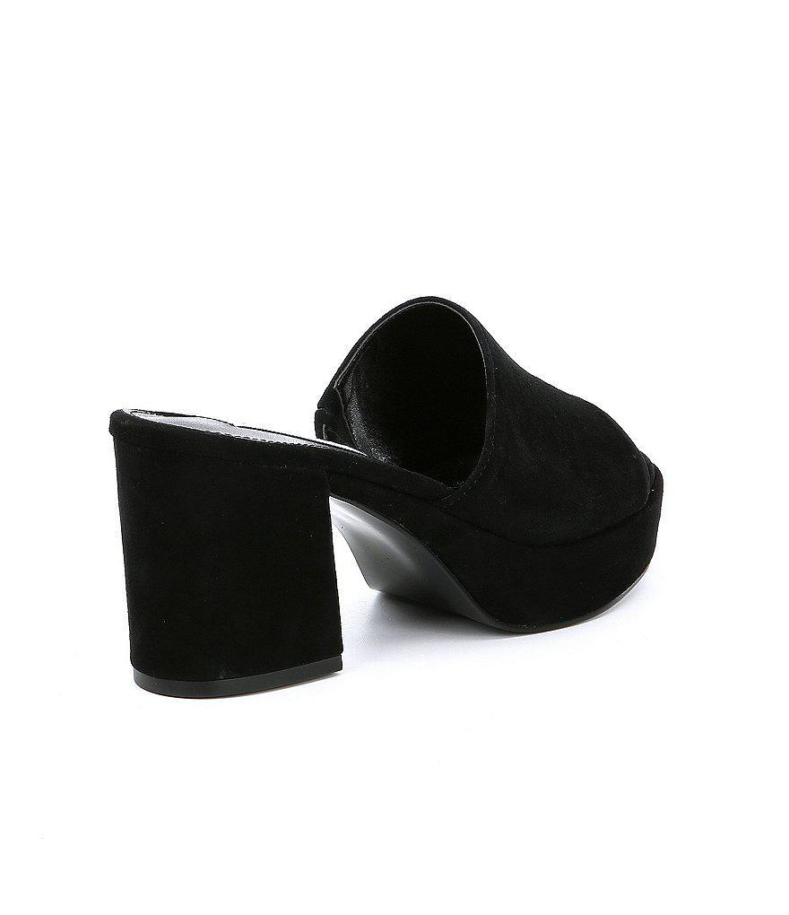 345e348e068 Lyst - Steve Madden Relax Suede Platform Block Heel Dress Sandals in ...